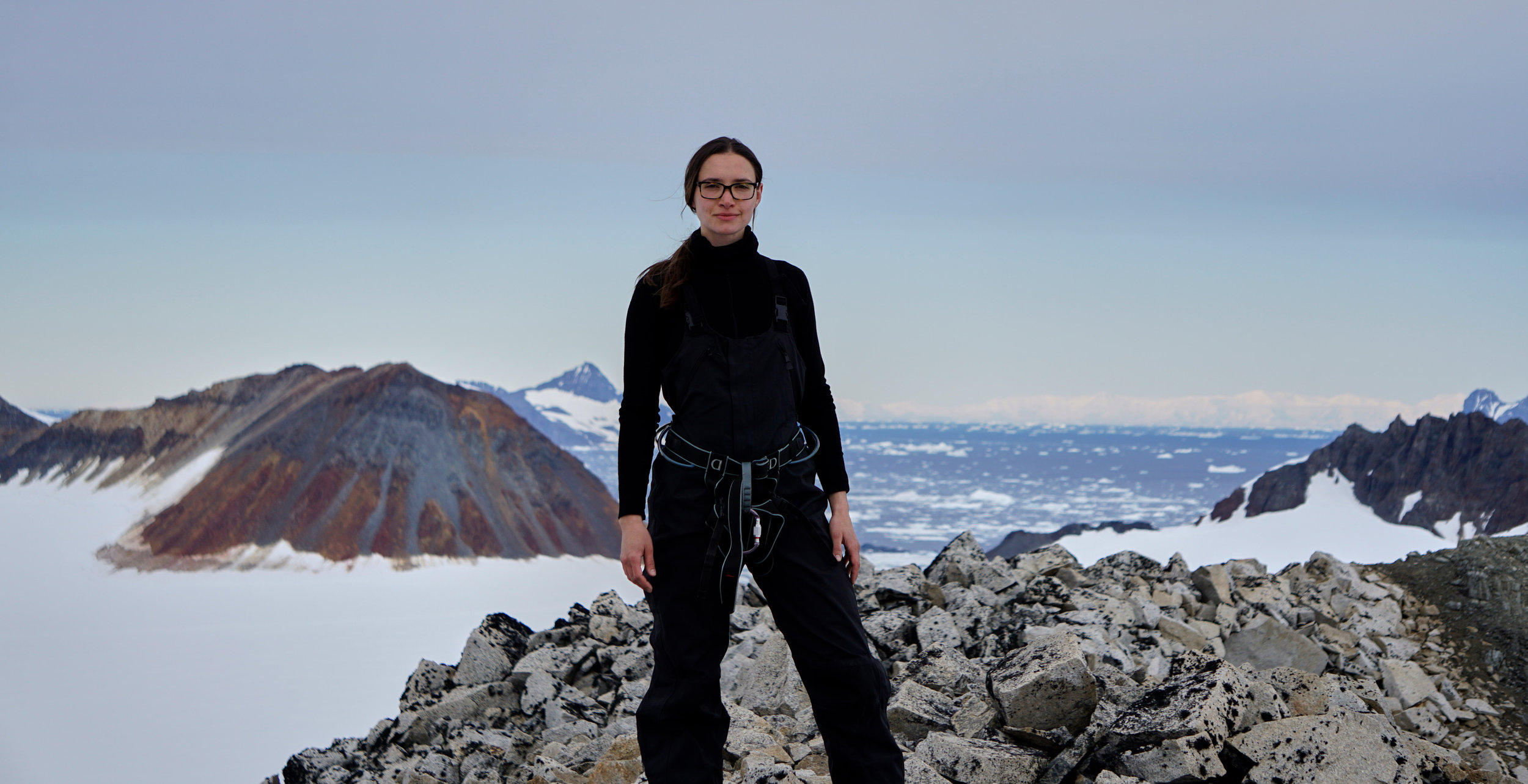 At the Rothera British Research Station in Antarctica