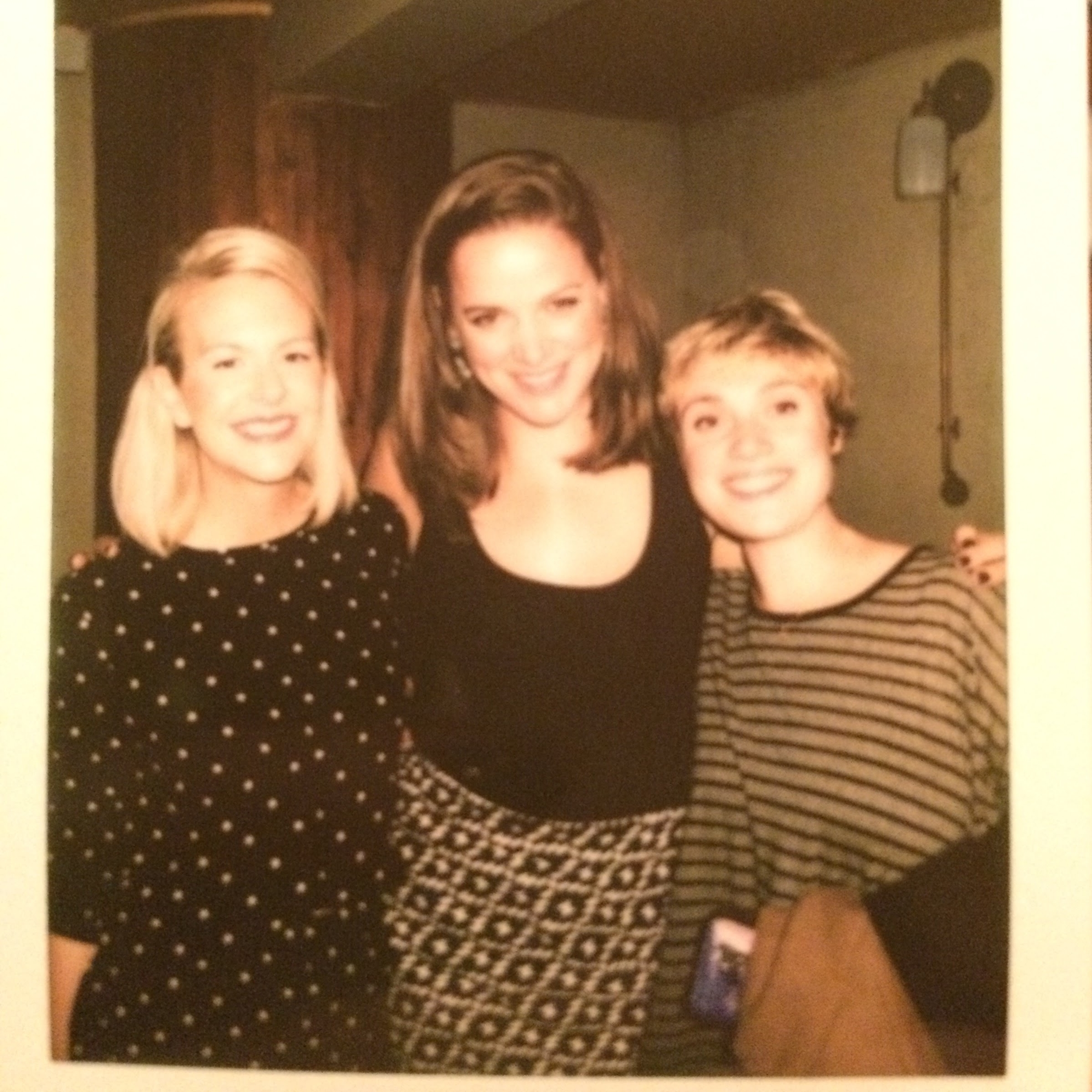 A polaroid from Rebecca's going away party