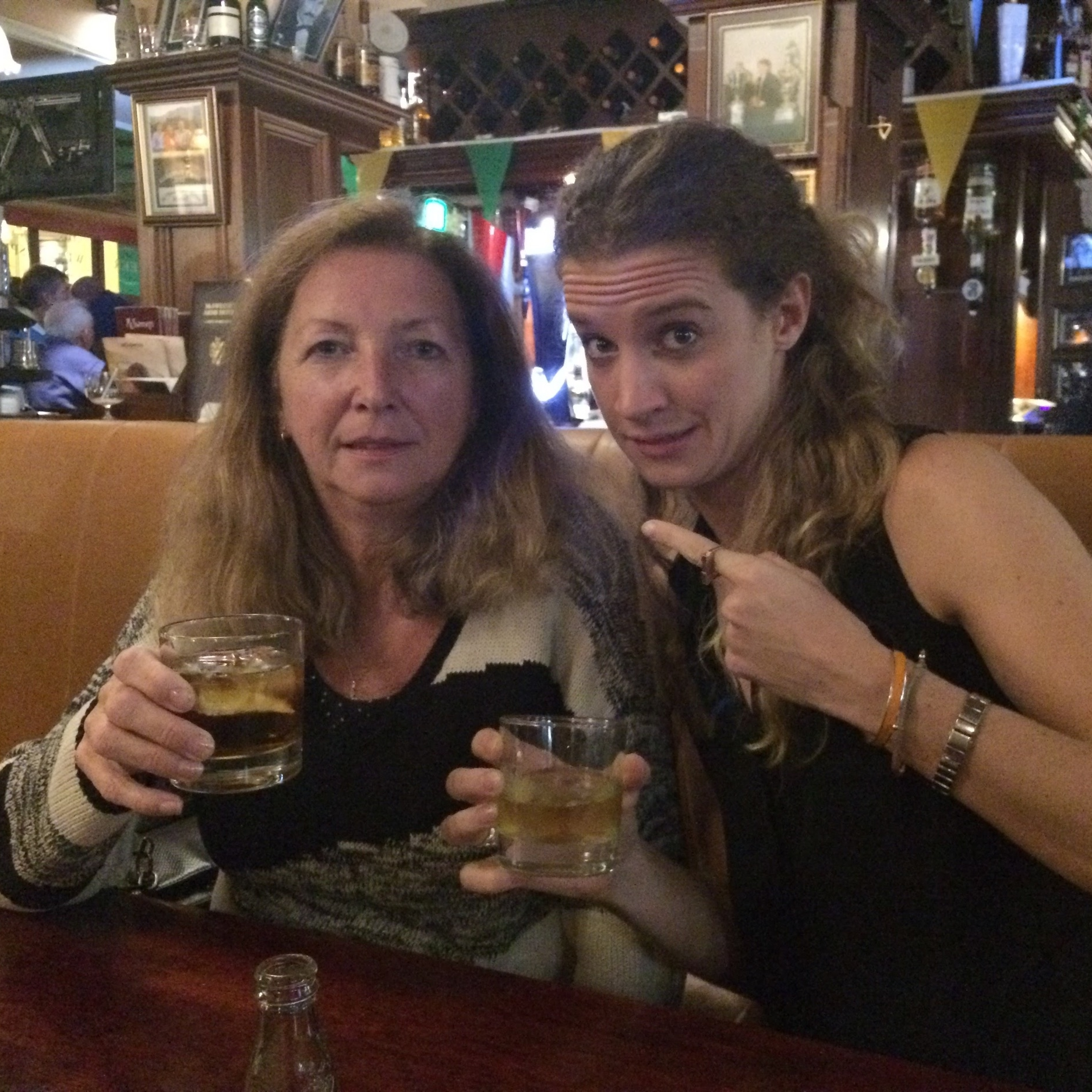Have a drink dere mammy