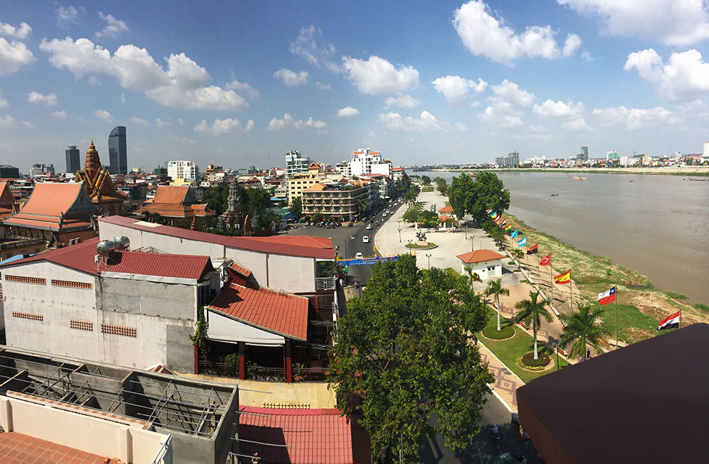 The Tonle Sap and downtown Phnom Penh