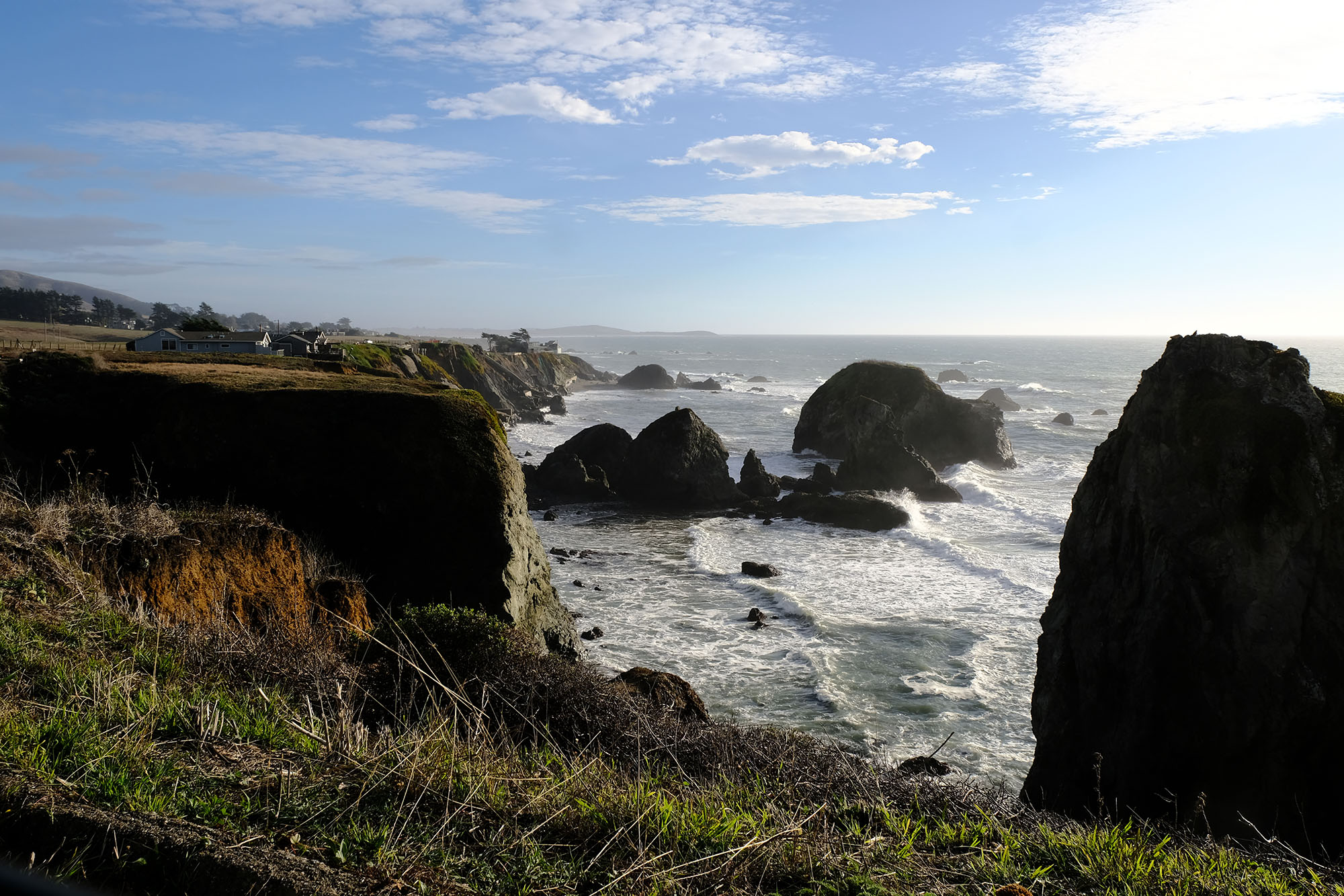 The coast road hugs these incredible cliffs