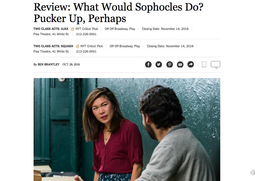 AJAX by A.R. Gurney is a NY Times Critics' Pick!