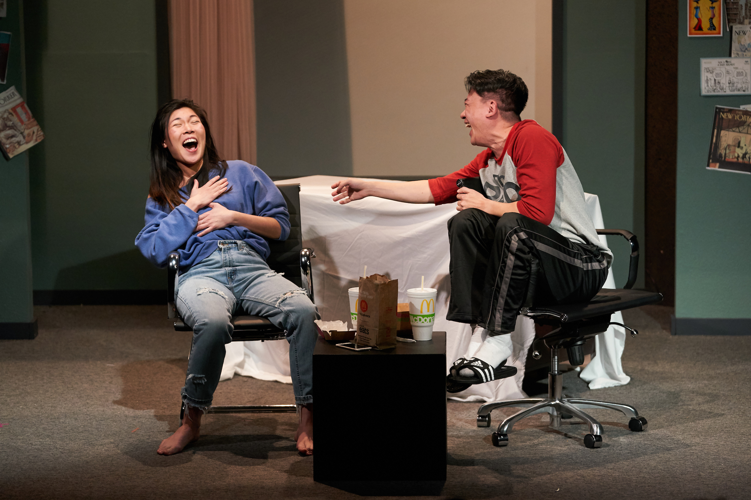 With Kenneth Lee, in  Caught  at the Repertory Theater of St. Louis.