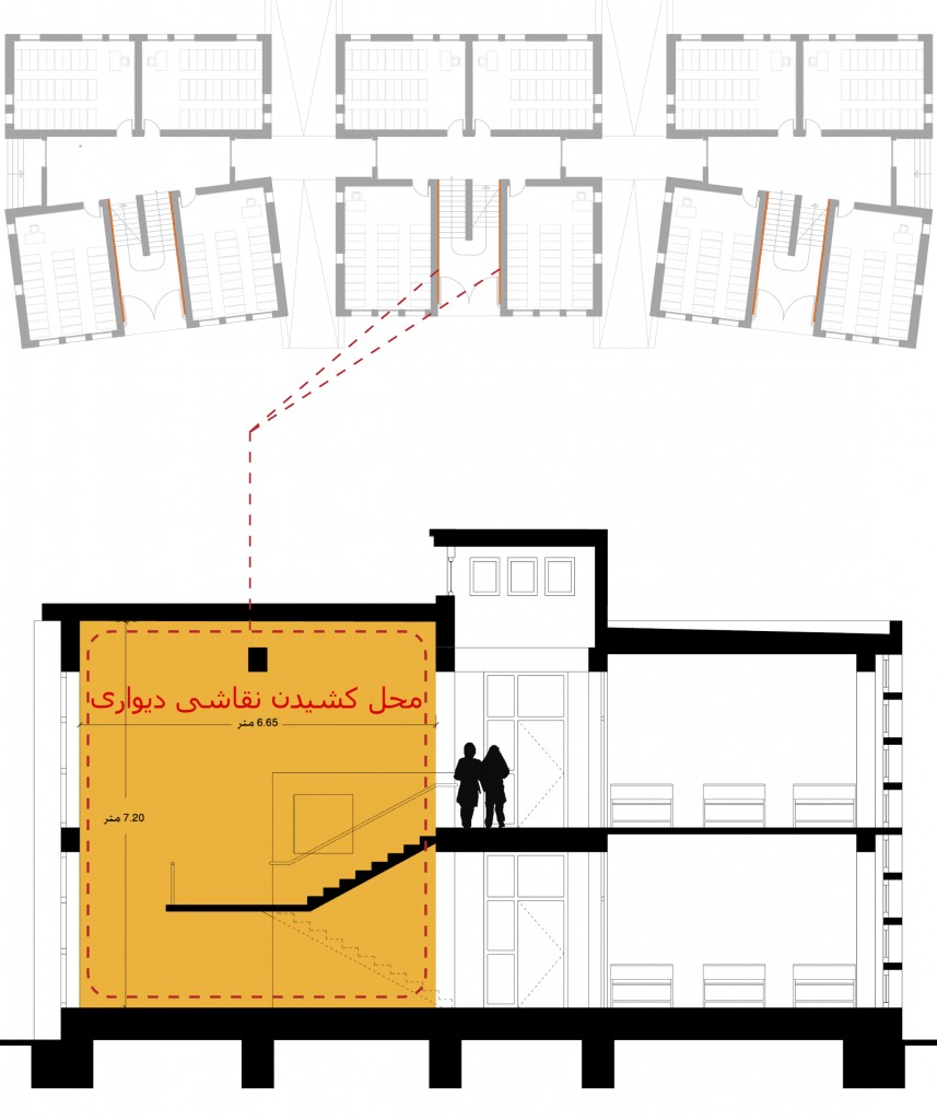 [Diagrams showing the location of wall murals_image by united ➃ design]