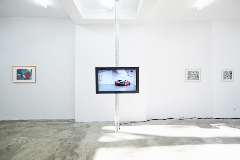Untitled (Sky Garage), 2014, HD video, 2:45, installation Placebo Home, Part I, Cologne