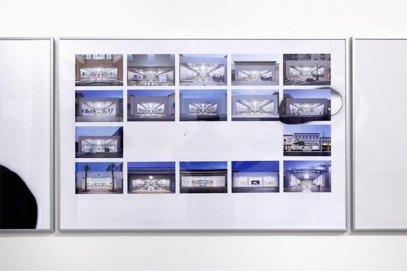 "Untitled (Apple Stores 2), 2016, Archival inkjet prints, B&W copy print, 39 ¼"" x 28"""