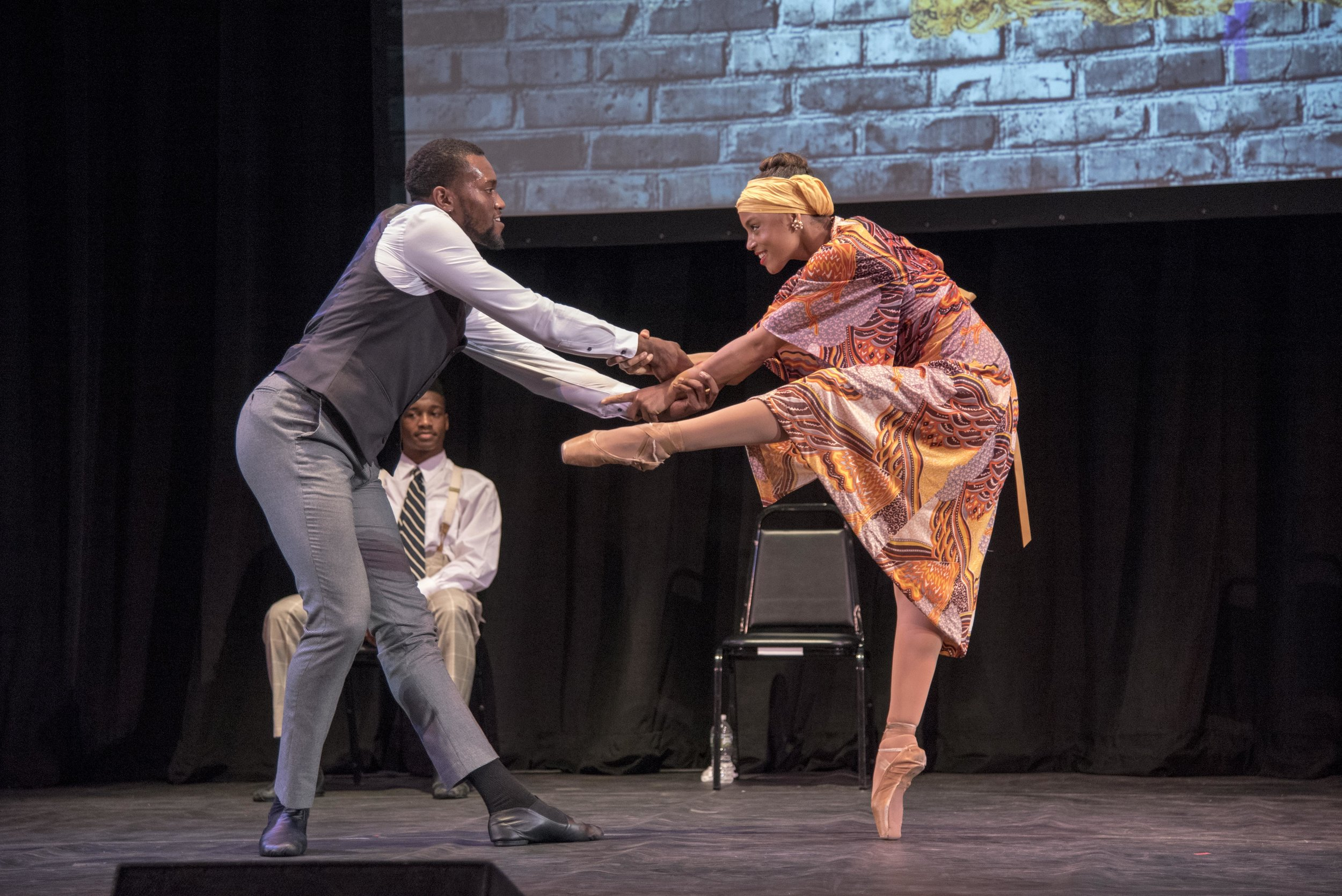 Dancers with The Black Iris Project with choreography by founder Jeremy McQueen perform at the Con Edison-TownHall 20th anniversary Black History Month program.