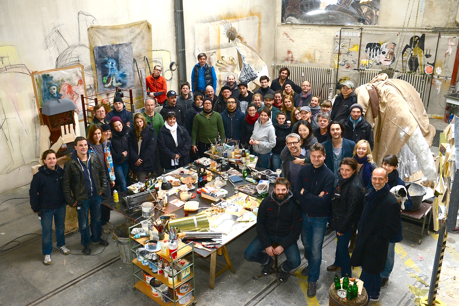 """""""Posthumous"""" Cast and Crew. Fall 2012,  Berlin."""