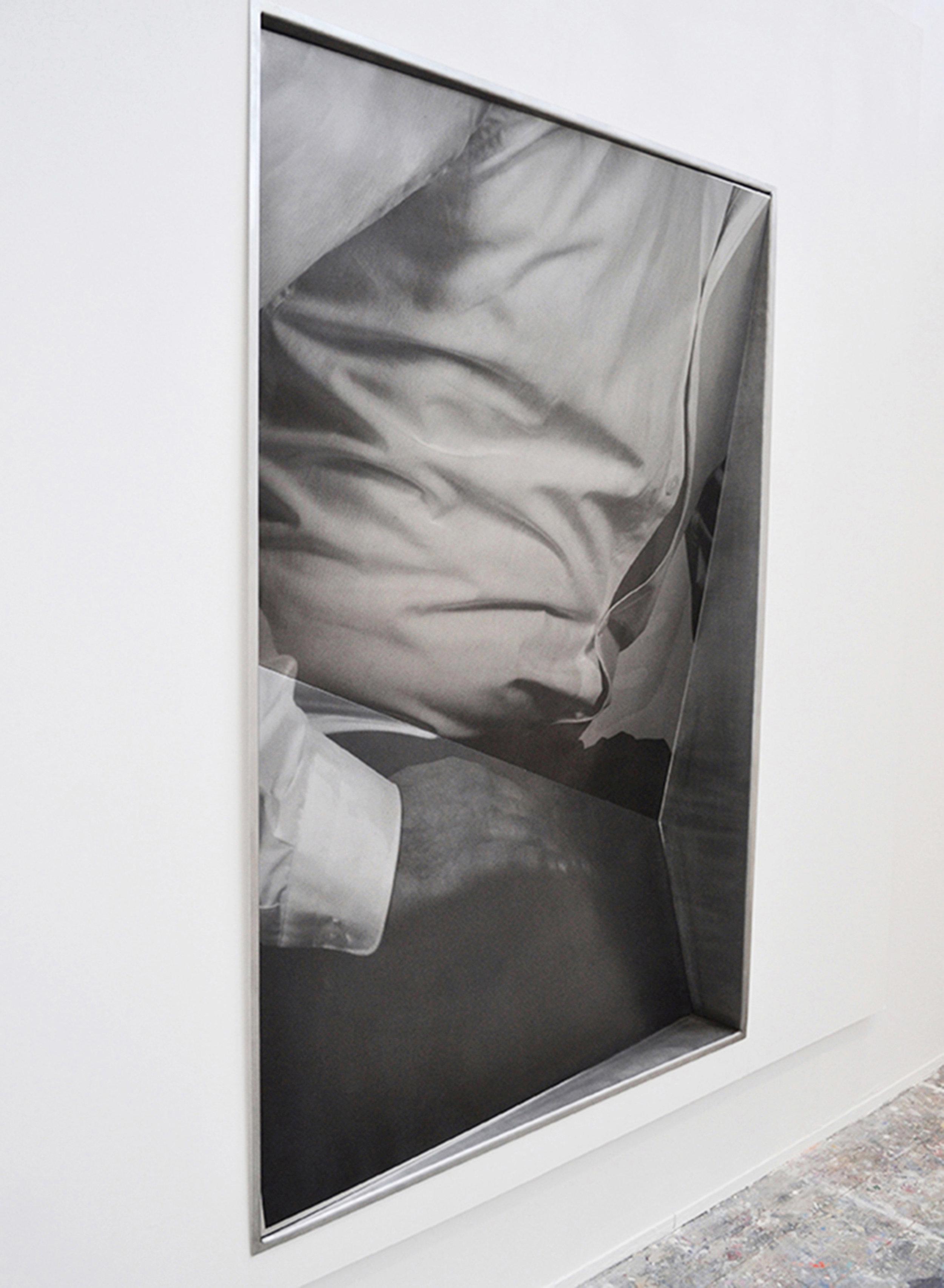 Unbuttoned | 2016 | screen print on aluminium | 6ft x 4ft