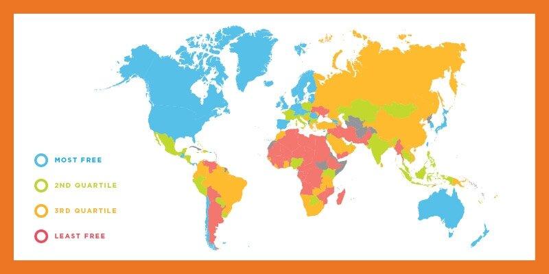 Map of economic freedom