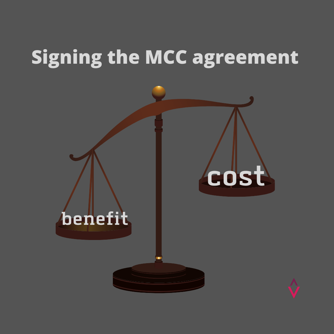 Signing the MCC Agreement