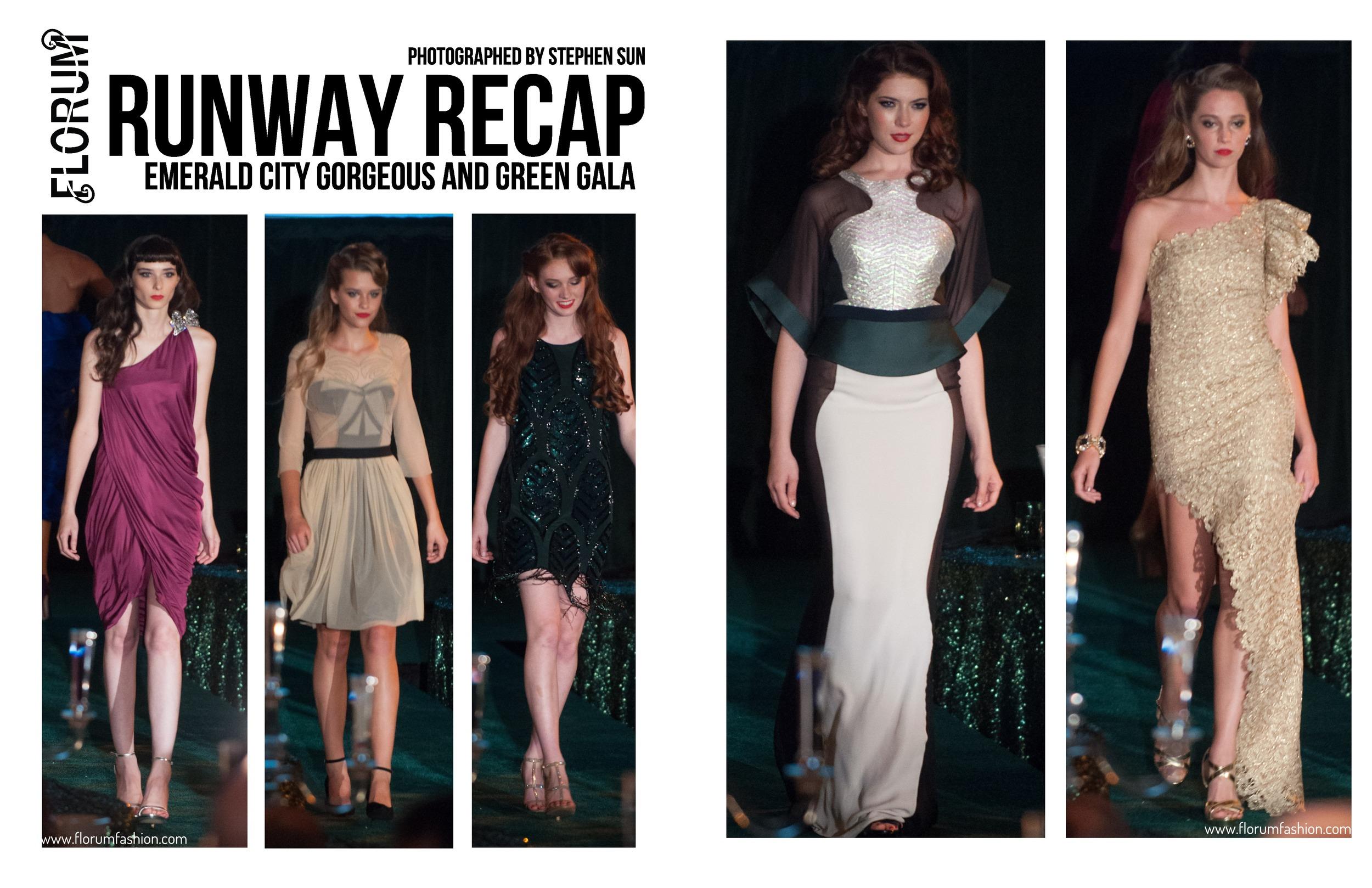 Runway Recap Emerald City Gorgeours and Green Gala Emily Matheny Stars Model Management Florum Fashion Magazine Alyssa Moore