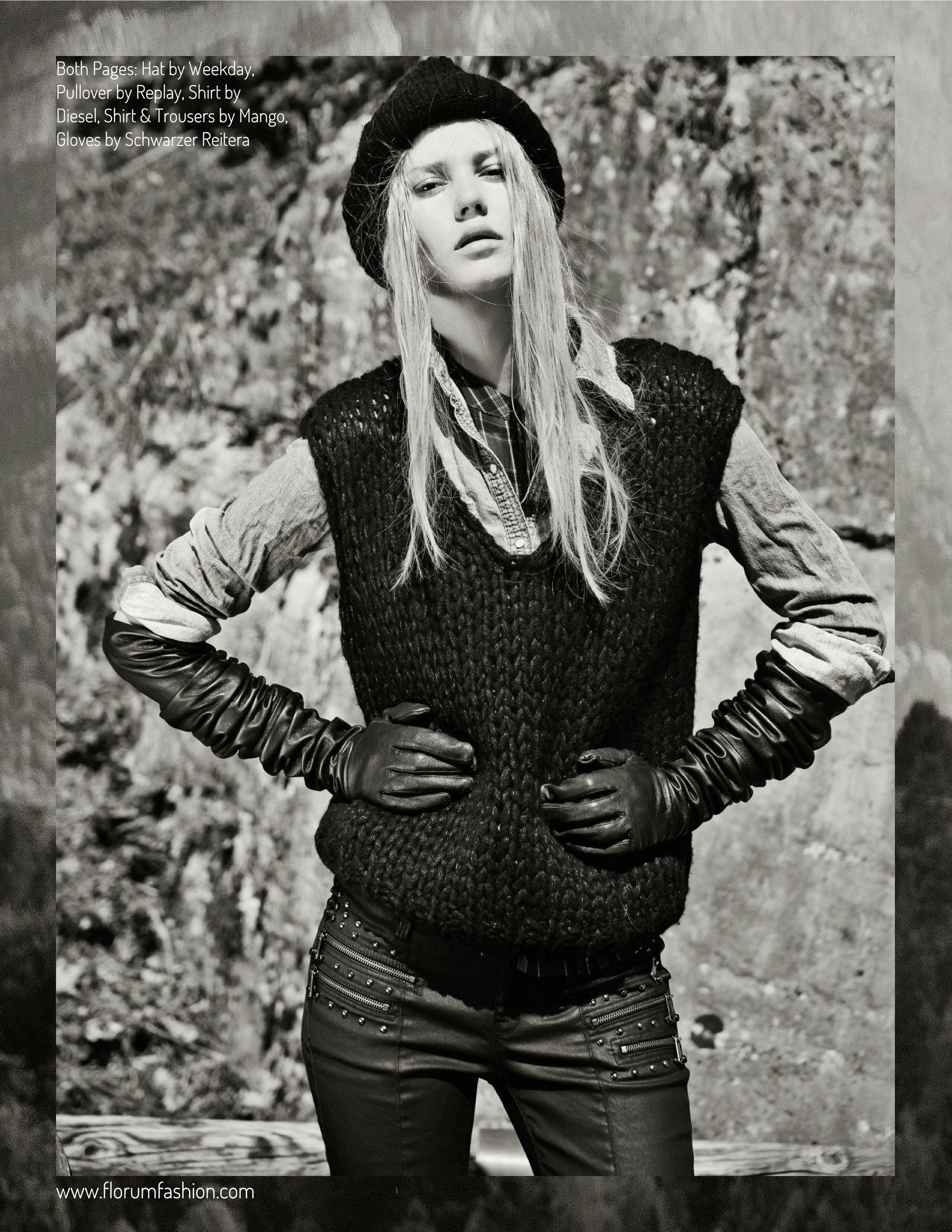 Green Fashion Editorial photographed by Heiko Laschitzki Java Models Munich Models Florum Fashion Magazine