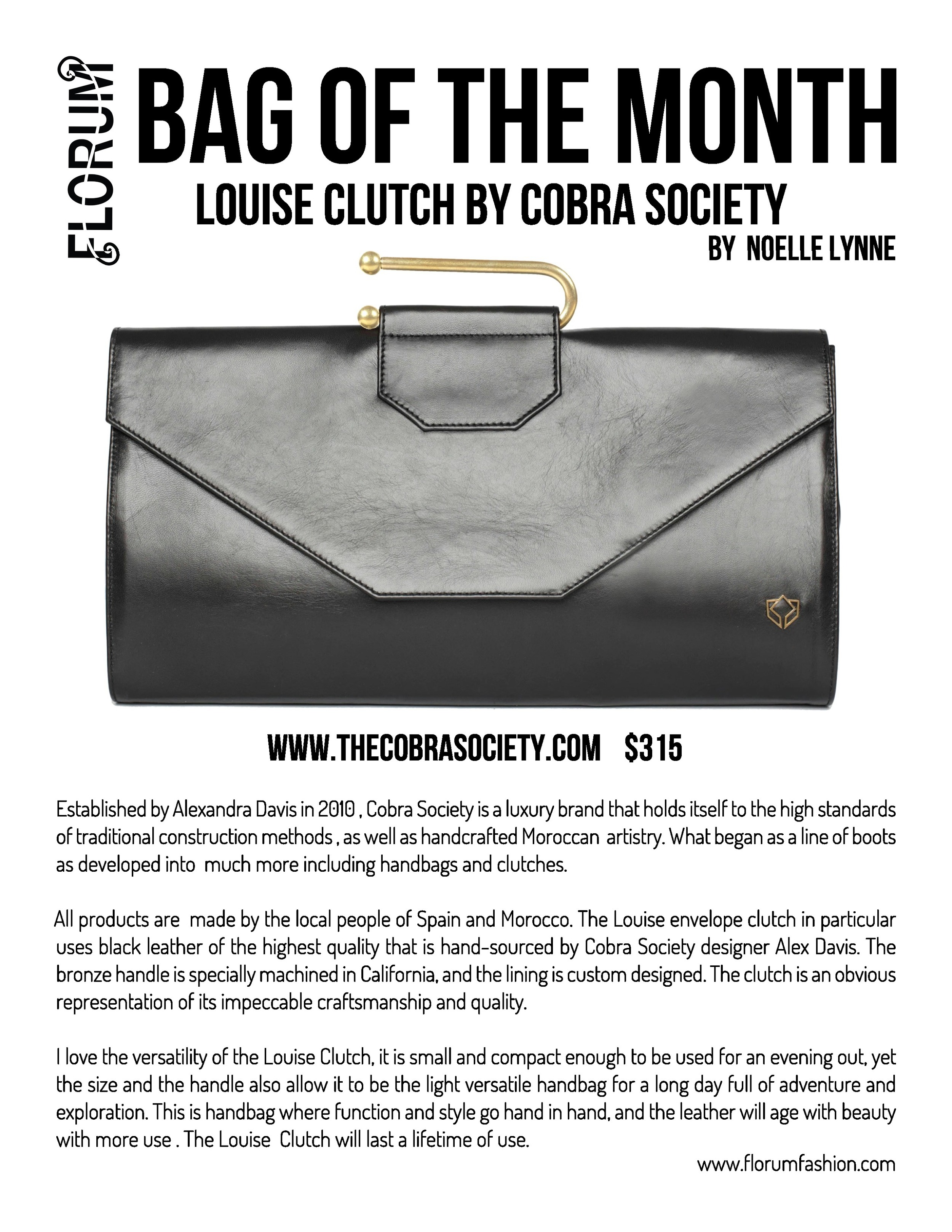 Florum Fashion Magazine Green Purse Ethical Clutch by Noelle Lynneq