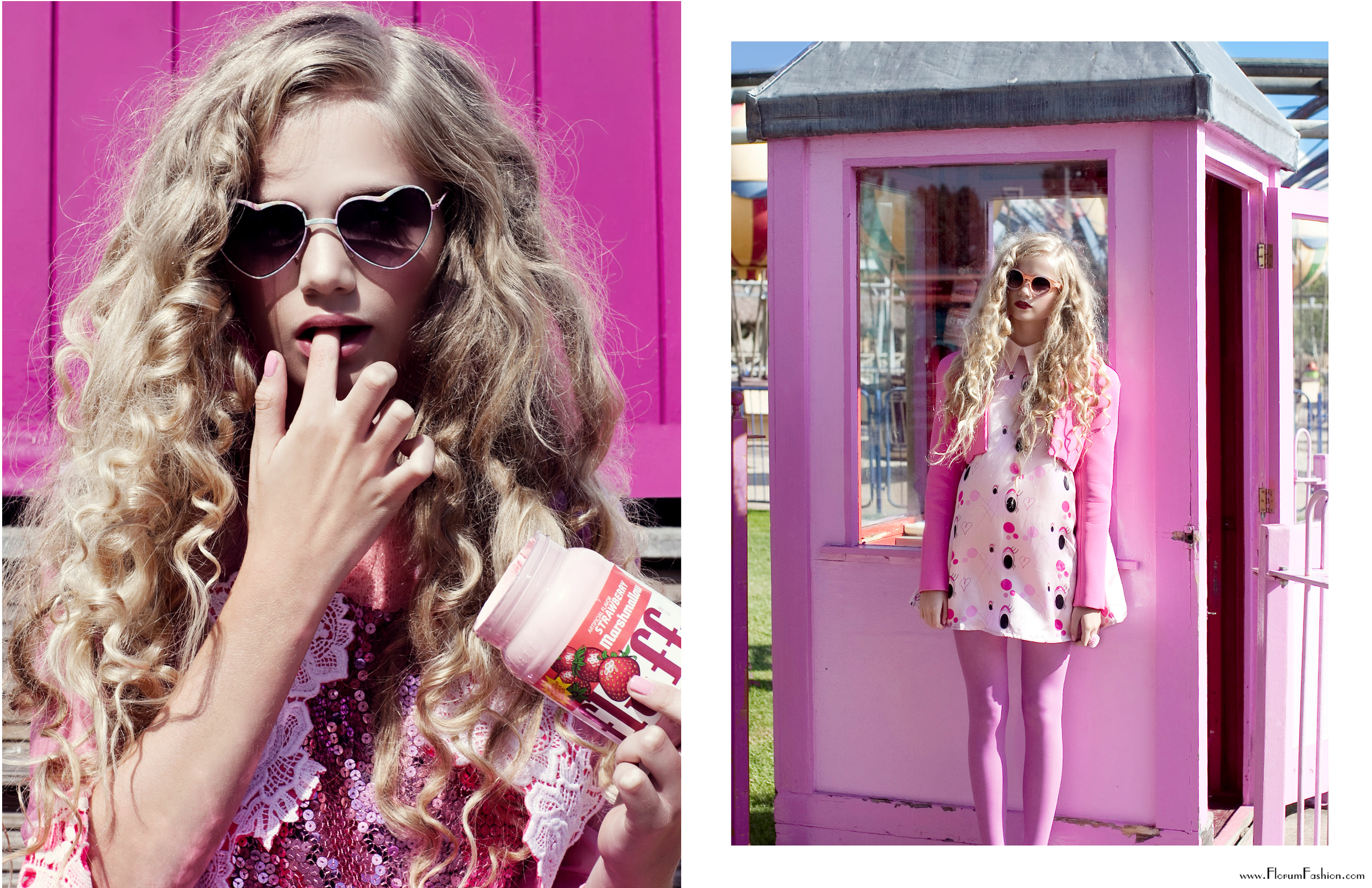 Pink by Xanthe Hutchison - Florum Fashion Magazine - styled by Zoe Hancok - We are Cow - Editorial Archive January 2014 - Slow Fashion