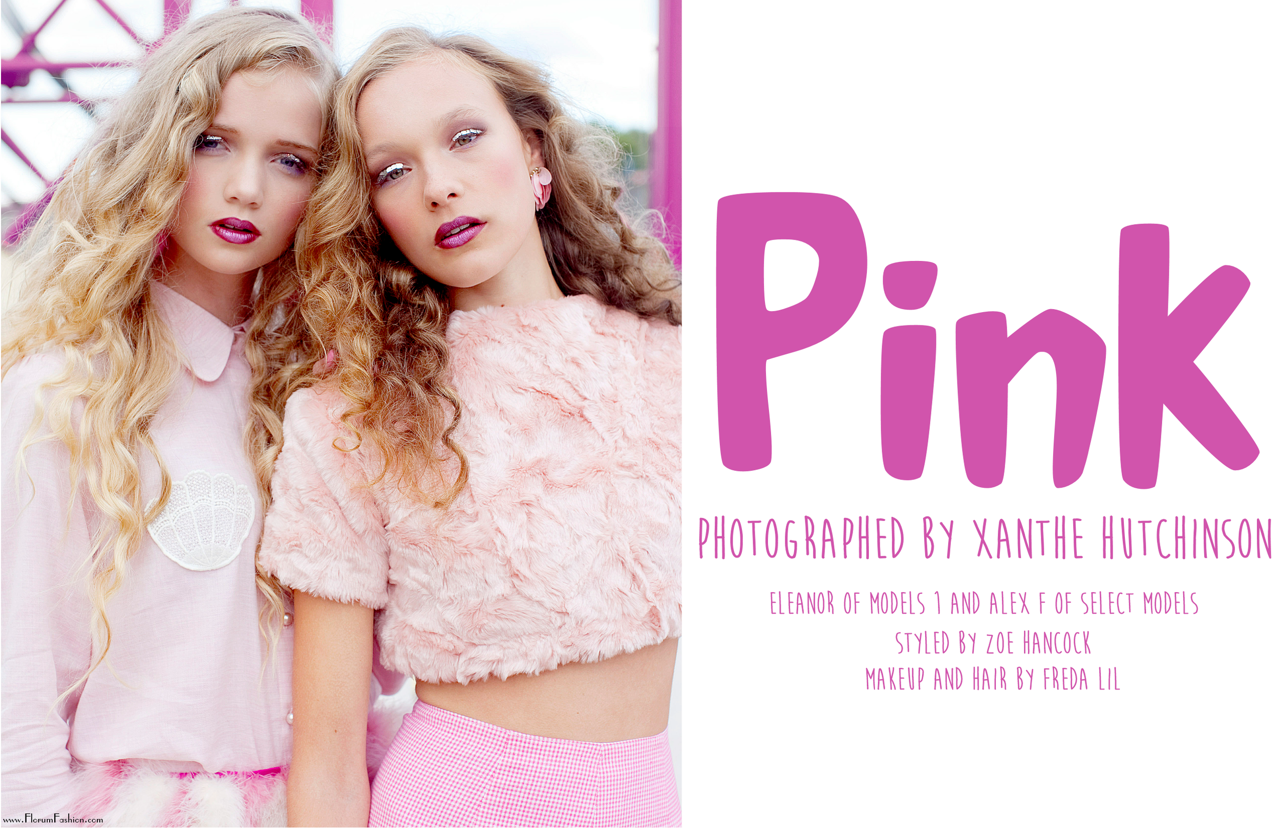 Pink by Xanthe Hutchison - Florum Fashion Magazine - styled by Zoe Hancok - We are Cow - Editorial Archive January 2014 - Slow Fashion - Green fashion