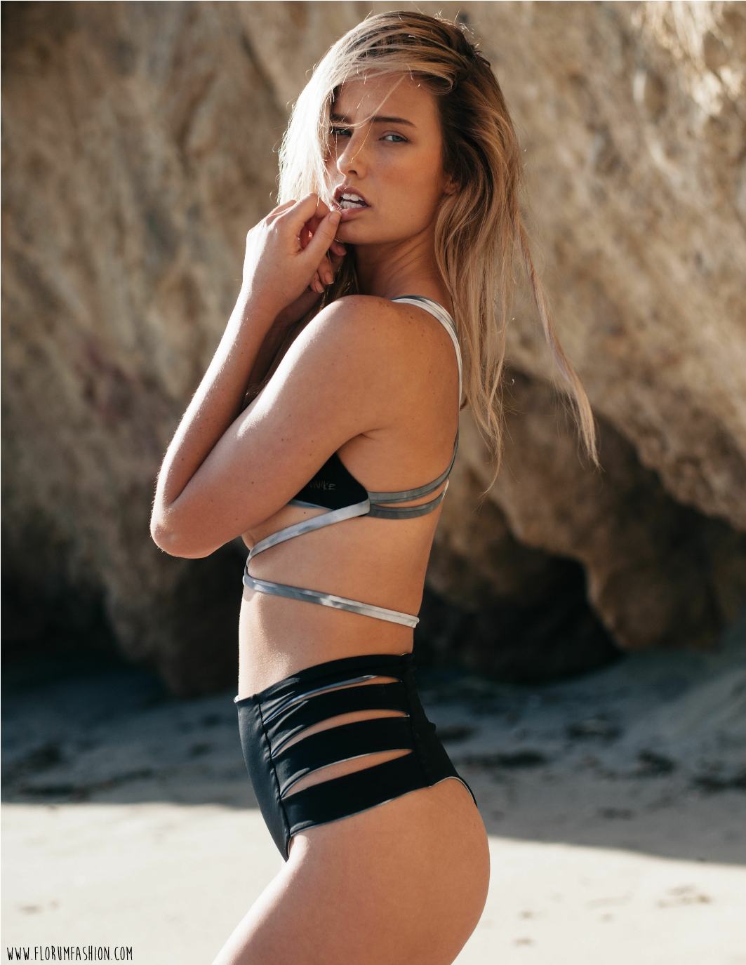 Unike Reversible Green Swimwear Brand - Florum Fashion Magazine - Stephen Sun - Brooke Buchanan - Slow Fashion Movement - Ethical - Hair by Hayk Hakobyan - Makeup by Nina Lopez