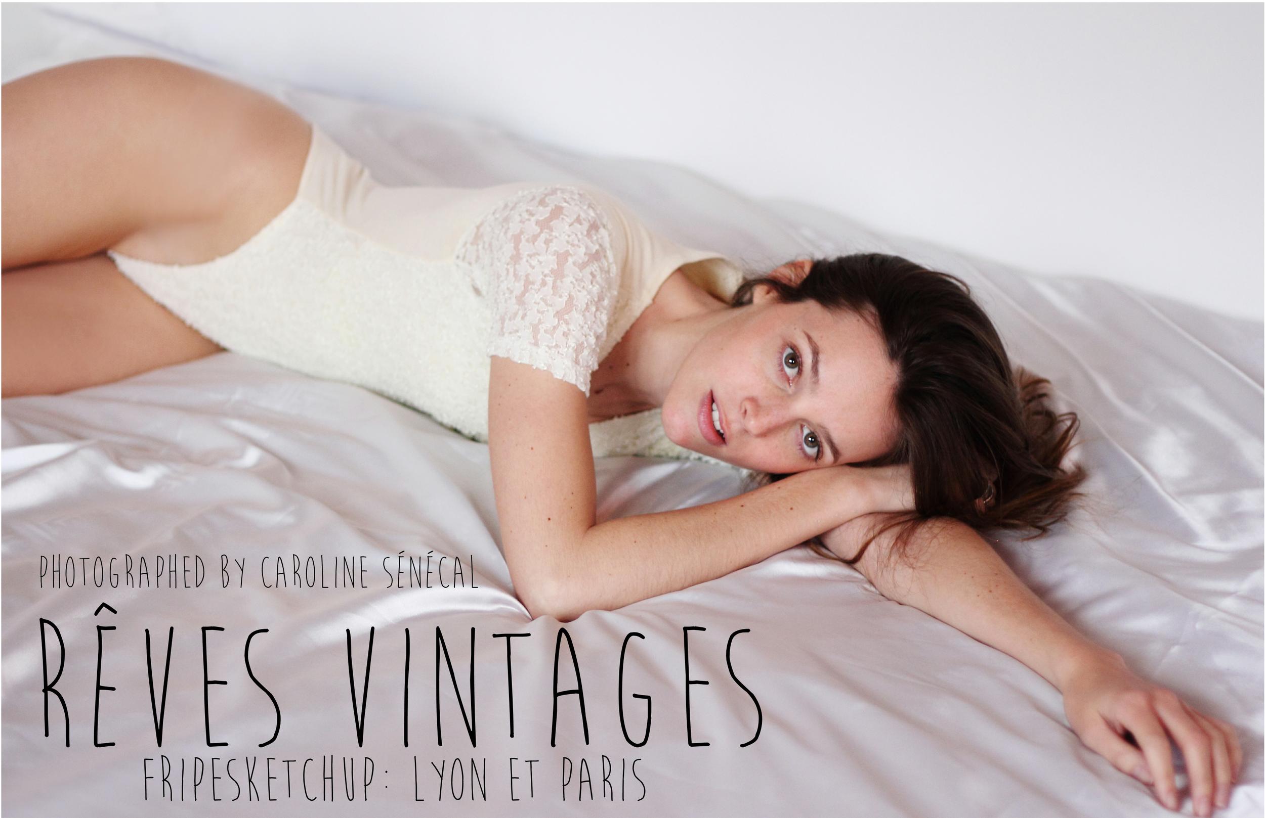 rêves vintages - photographed by Caroline Sénécal for Florum Fashion Magazine - Vintage Fashion - VIP Models France - Marion Serreau - Fripesketchup - Lyon et Paris