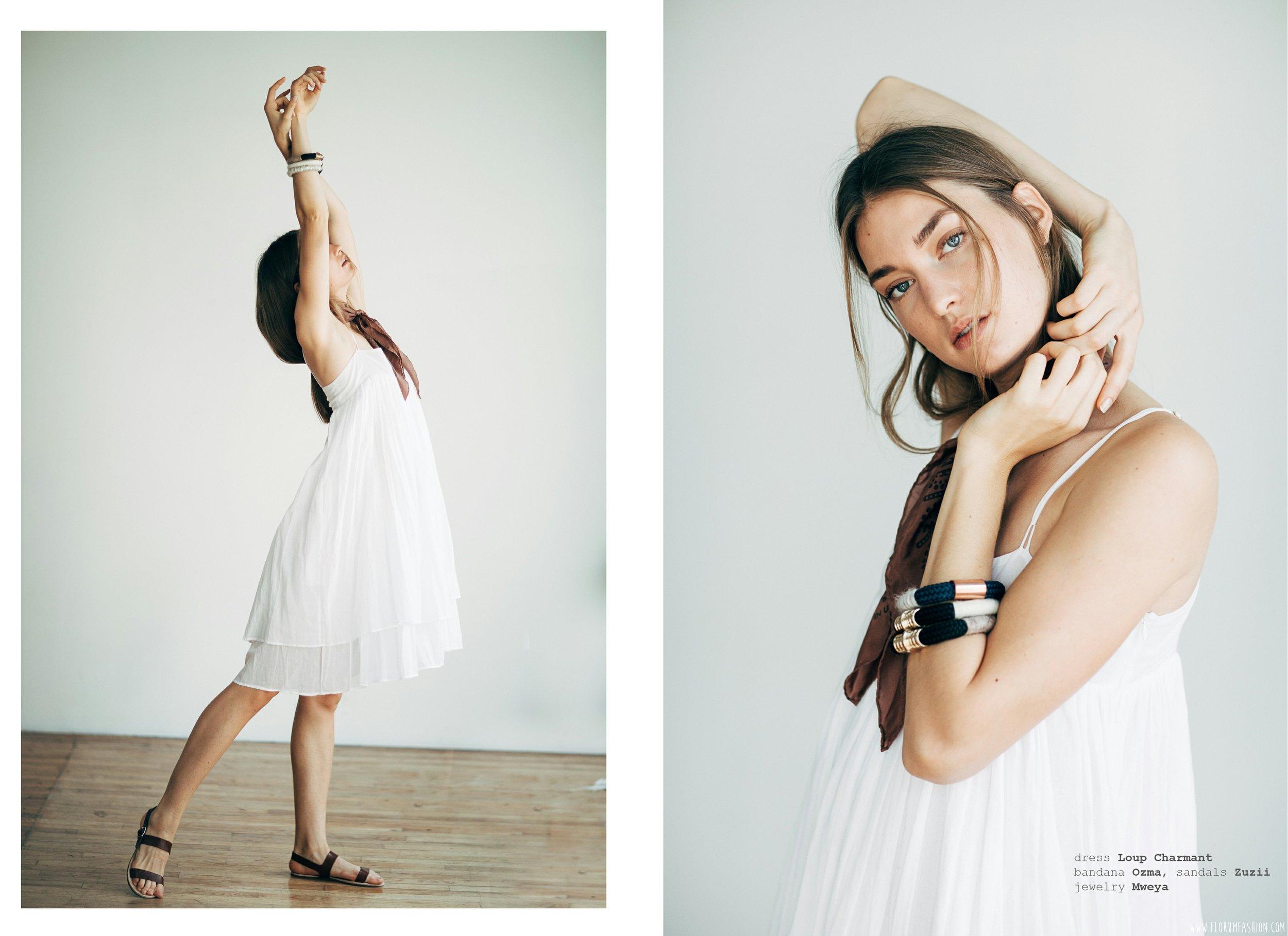 dress  LOUP CHARMANT    bandana  OZMA    sandal    ZUZII    bracelets  MWEYA