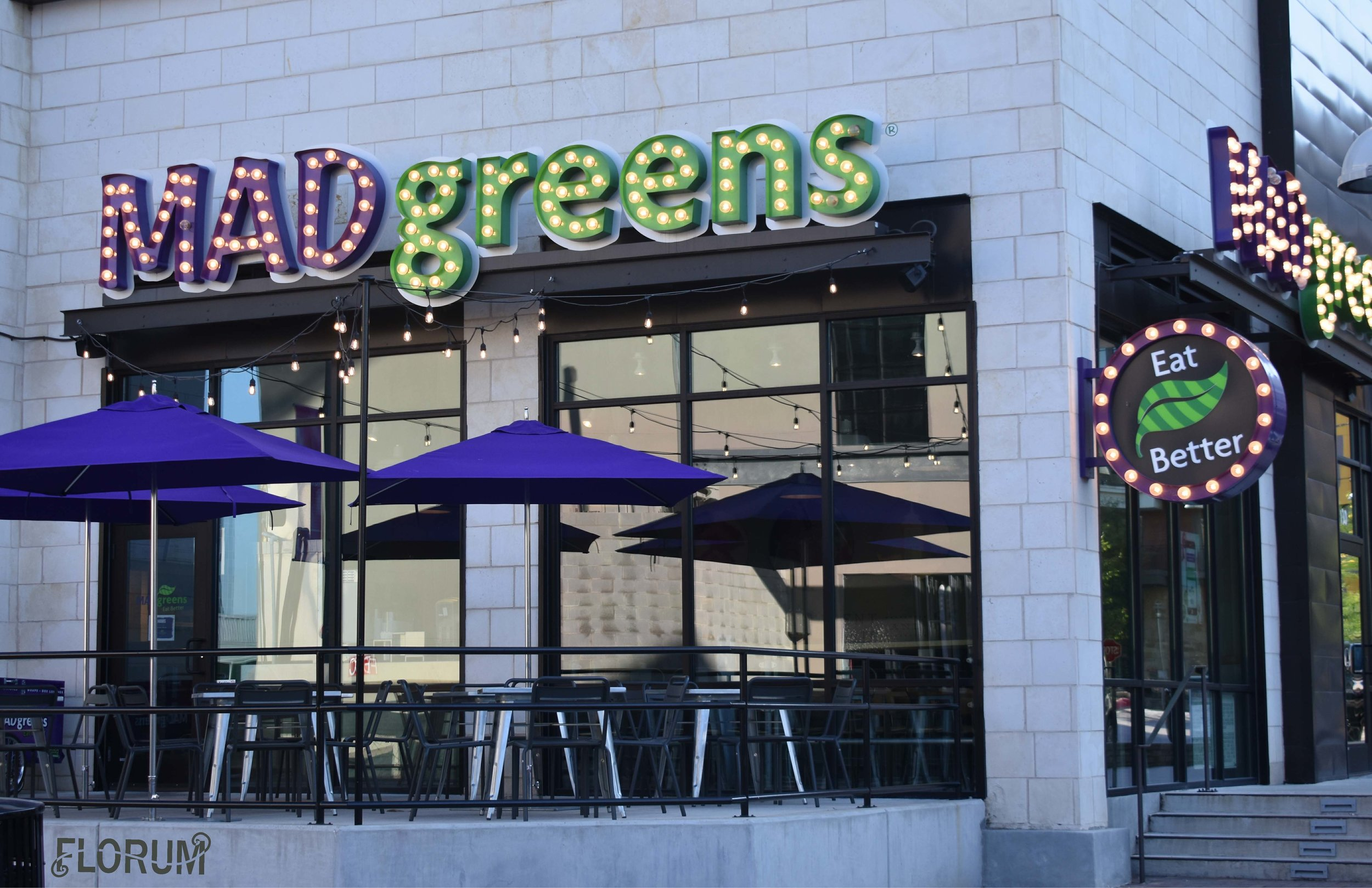 - When you don't have time for a longer lunch, then pop in Mad Greens for a fresh salad, hot soup, or raw juice bar. The 'Wake Up' and the 'Green Detox' are my two favorite cold pressed juices. www.MadGreens.com +1(512) 687-28463100 Esperanza Crossing Ste 130Austin, TX 78758