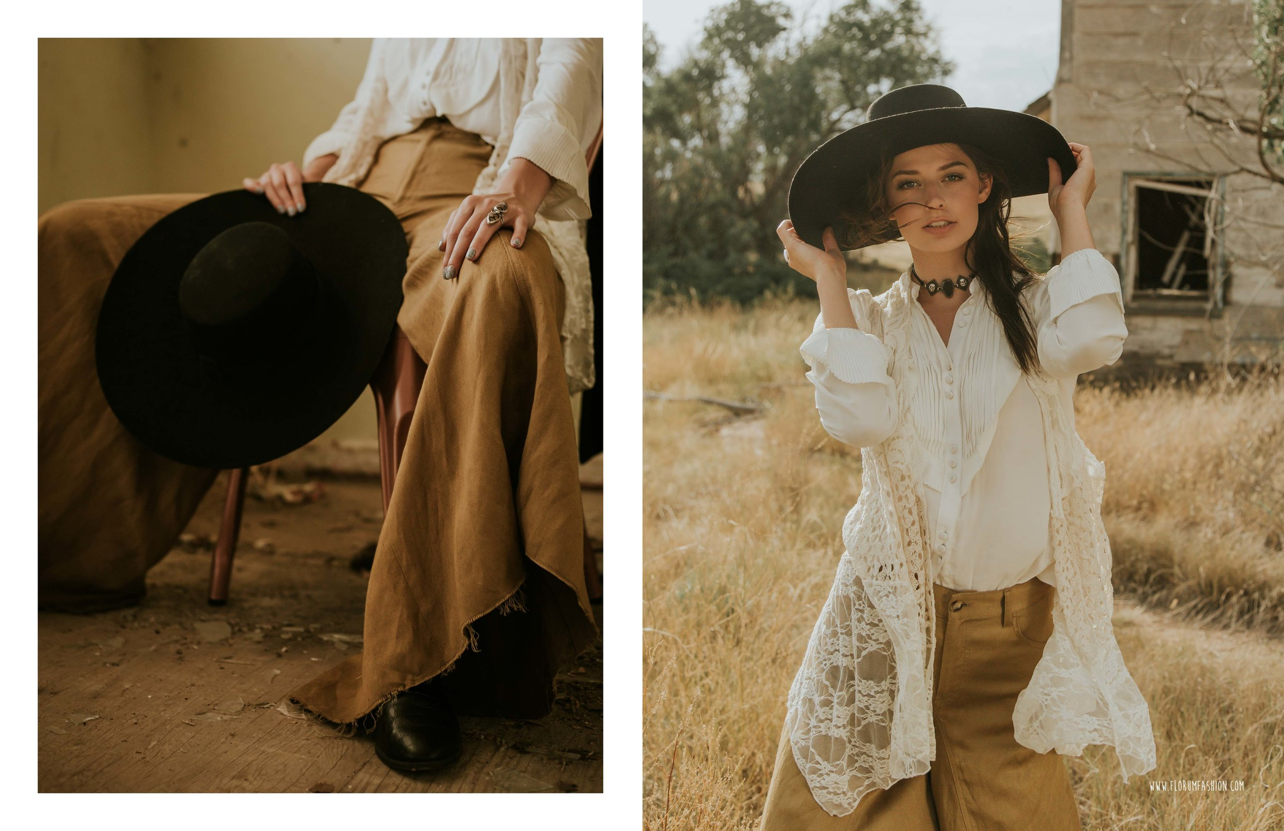 Soeurs  Florum Magazine Ethical Clothing Slow fashion Movement Ladd Forde - Wardrobe Stylist Hannah Moon - Meg Chenoweth Wilhelmina Denver - Danna Denson NXT Model - Sacred Rites Jewelry - Shop Goldyn Denver