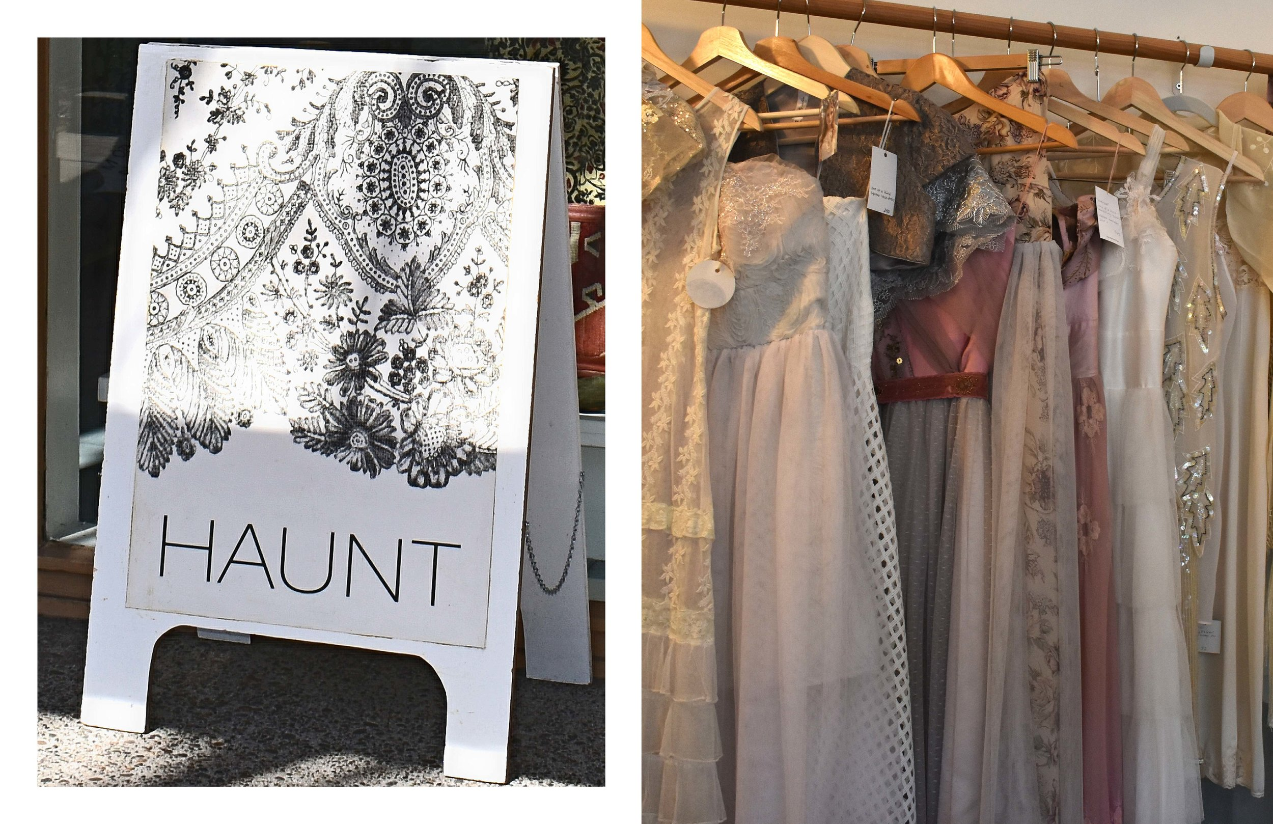 Coming across this little boutique called Haunt was so wonderful, as I immediately recognized it and a few designers from the boutique that were featured in an editorial called  D'annata  on Florum.  Check out the online fashion editorial shot in Portland, Oregon by  Evie Lane   HERE