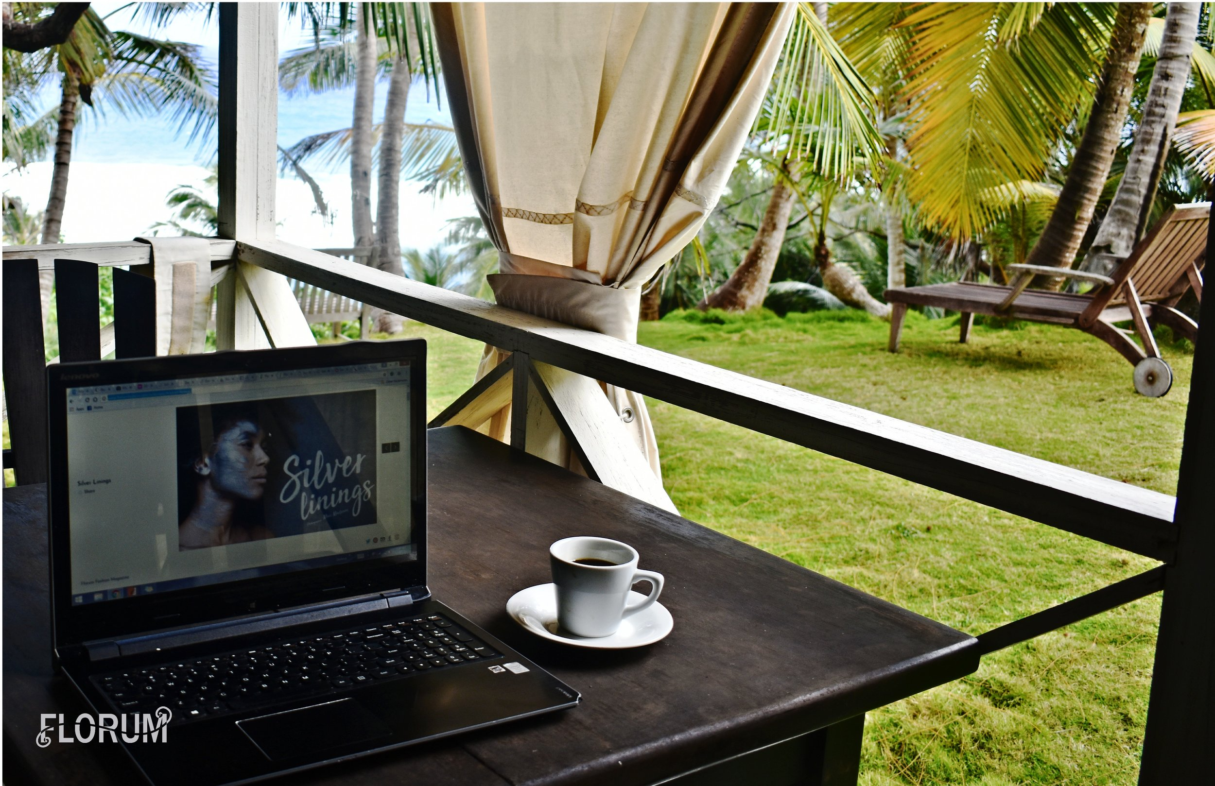 I found breakfast, coffee, and the fresh sea air to be the perfect place for me to get some work done on Florum Fashion Magazine. You can see that I was putting together the finishing touches on our gorgeous  editorial 'Silver Linings' that was photographed by Marc Martinon.   ECO Lifestyle + Lodge offers to include breakfast when booking and I would 100% suggest that you choose to include breakfast. They offered both a traditional buffet, as well as a made to order menu that included everything from pancakes to eggs and a few options for meat eaters as well. I am a dairy-free vegetarian and was able to have a delicious breakfast each morning (seriously I suggest trying the pancakes, as they were my favorite each morning).