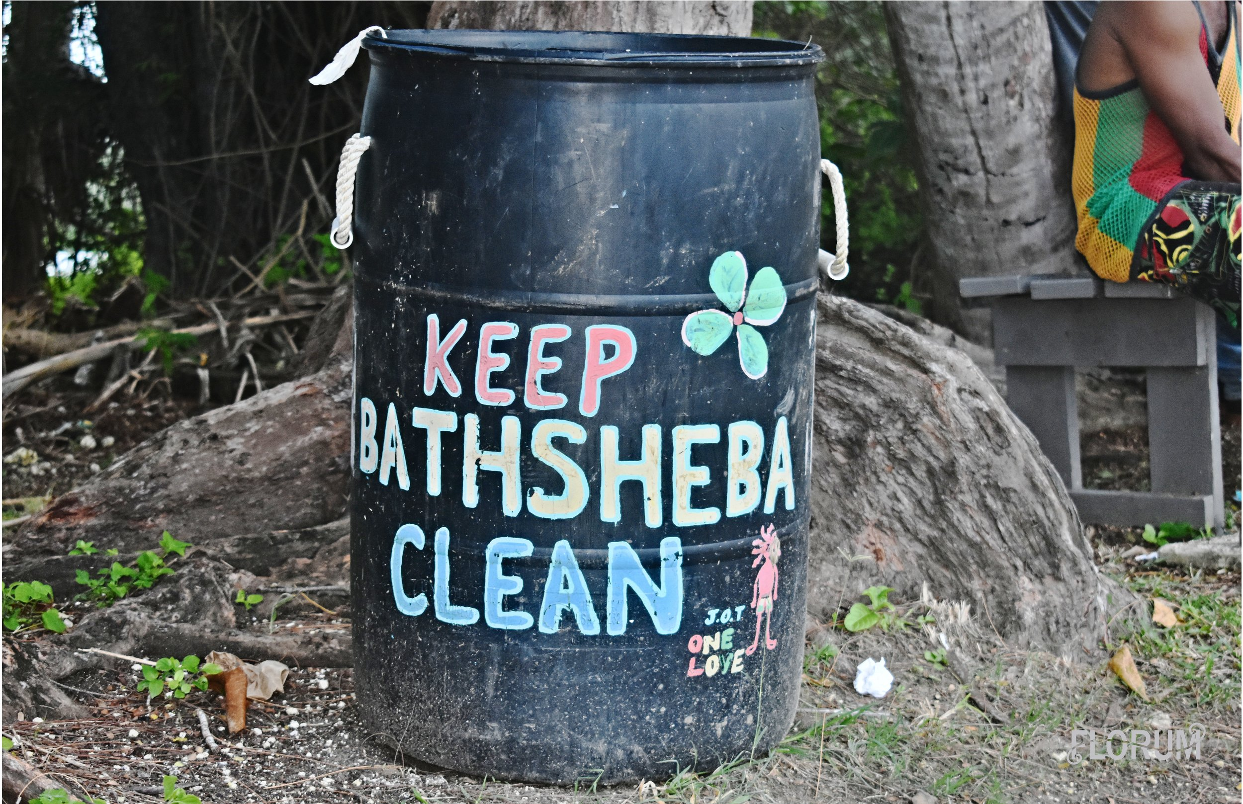 Whenever traveling, it is just so important to respect the environment and the home of the locals. My heart skipped a beat when I saw this trash can on my way back to ECO Lifestyle + Lodge from Bathsheba beach.   Not pictured is the recycling for glass, plastic, and paper that is out front of ECO Lifestyle + Lodge in the parking lot.