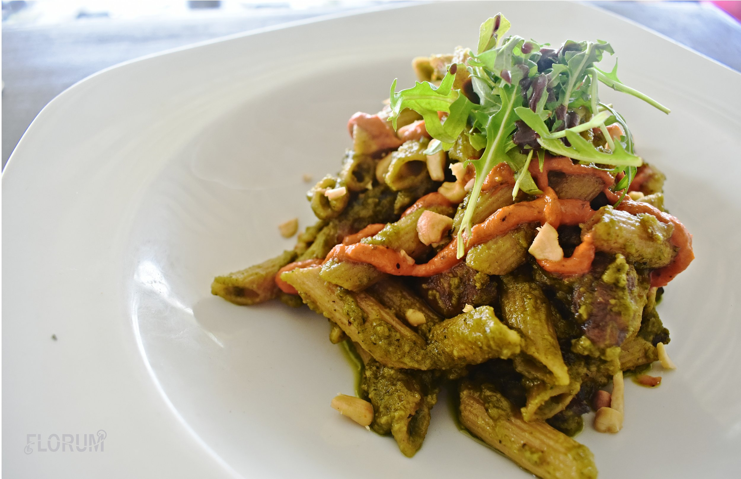 Another favorite that I had on my last day in Barbados before catching my flight was the vegan pesto, pine nut pasta salad.