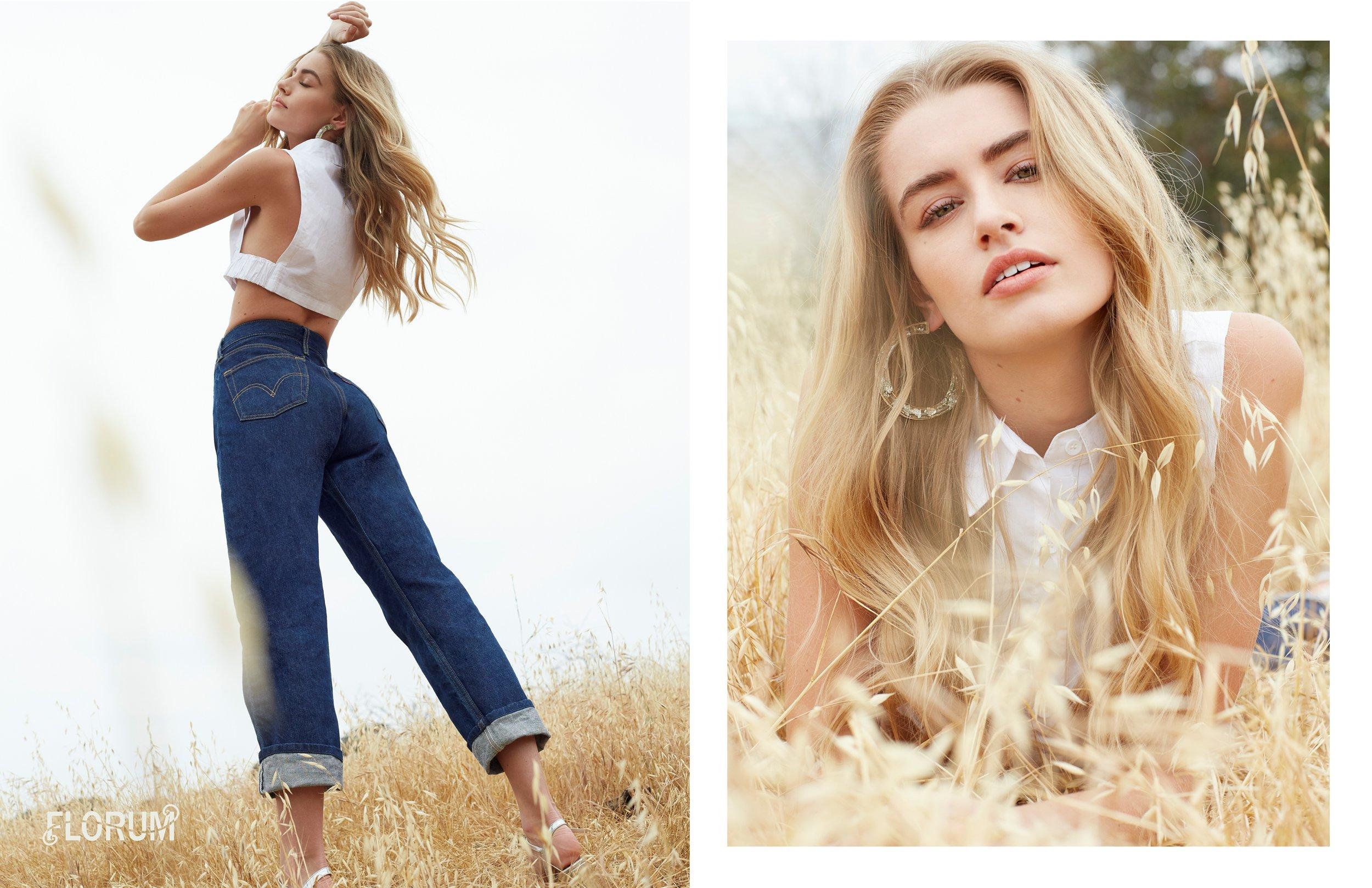 earrings  MARS  I top  STYLIST OWN  I jeans  LEVIS