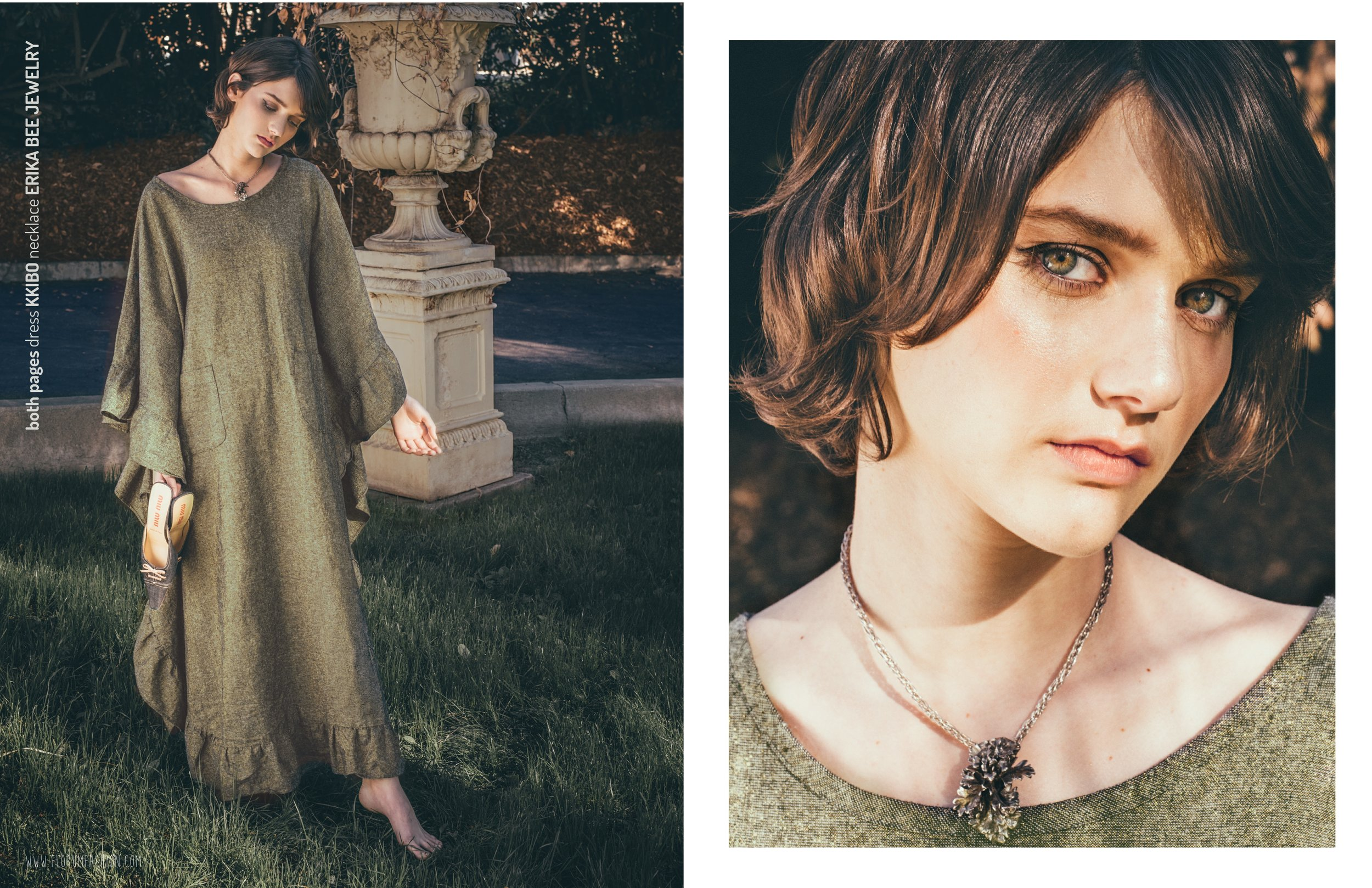 both pages  I  dress  KKIBO  necklace  ERIKA BEE JEWELRY