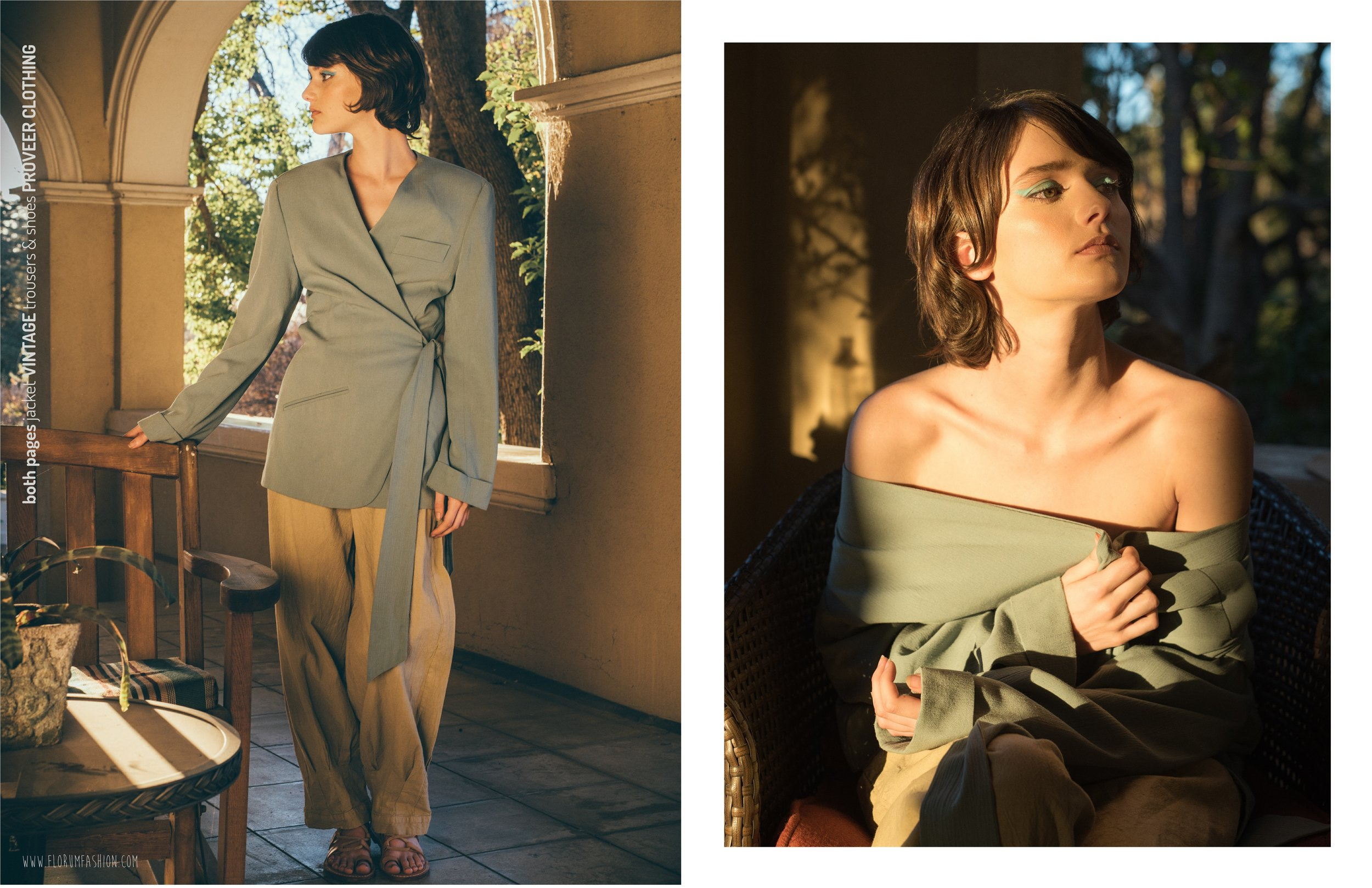 both pages  I  jacket  VINTAGE   trousers & shoes  PROVEER CLOTHING
