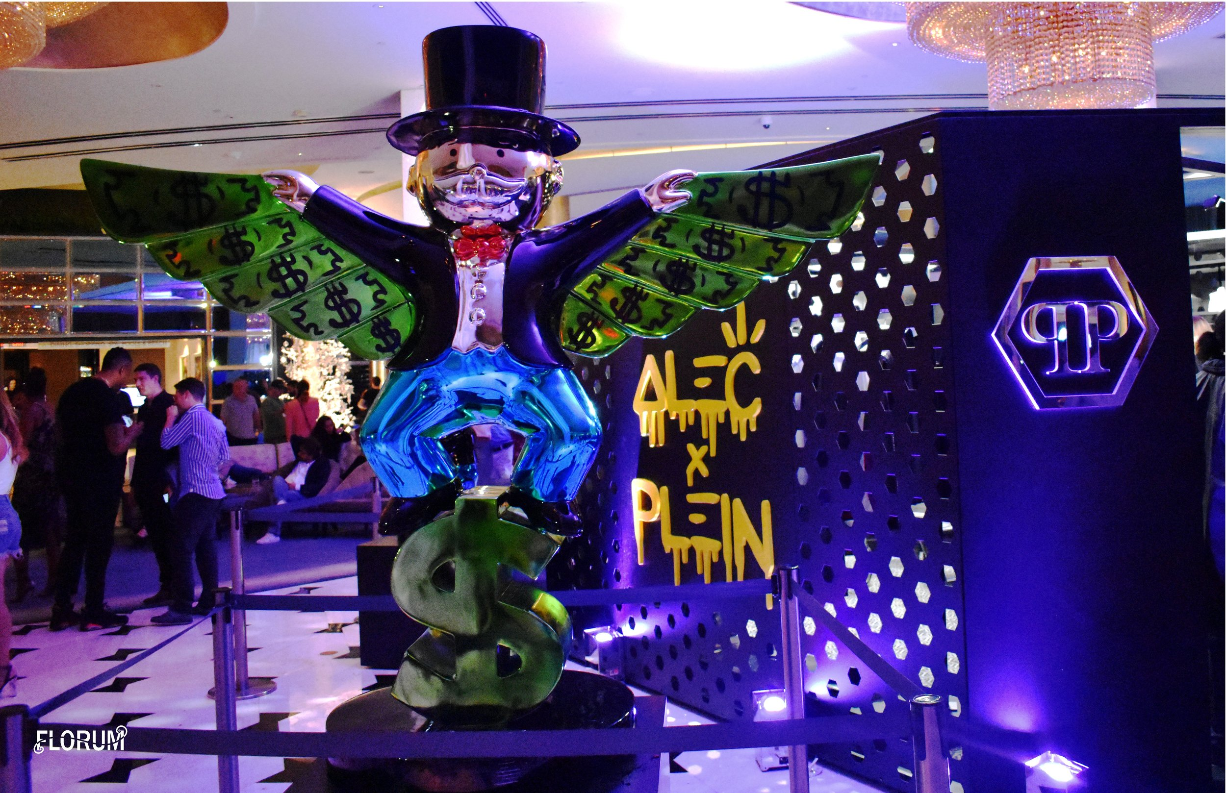 Fashion is art, and the pop up for the  Alec Monopoly x Philipp Plein  event at the Fontainebleau was a wonderful little cocktail & dessert party that gave you a sneak peek at the  capsule collection between the two artists .