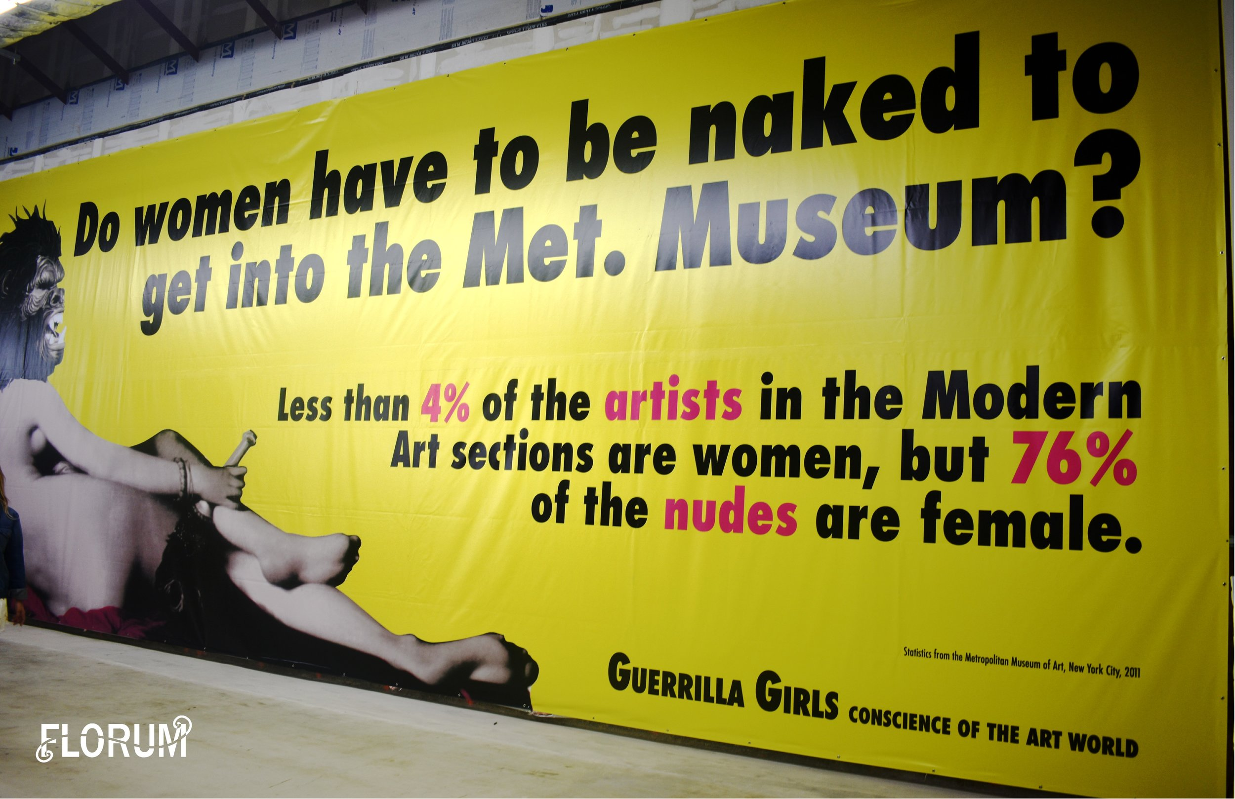 Less than 4% of the artists in the Modern Art sections are women, but 76% of the nudes are female.