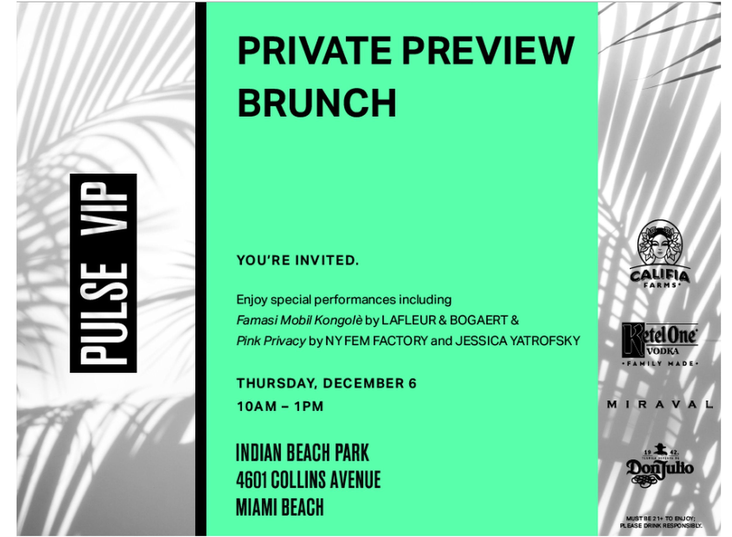 pulse vip private brunch preview. florum fashion magazine art basel