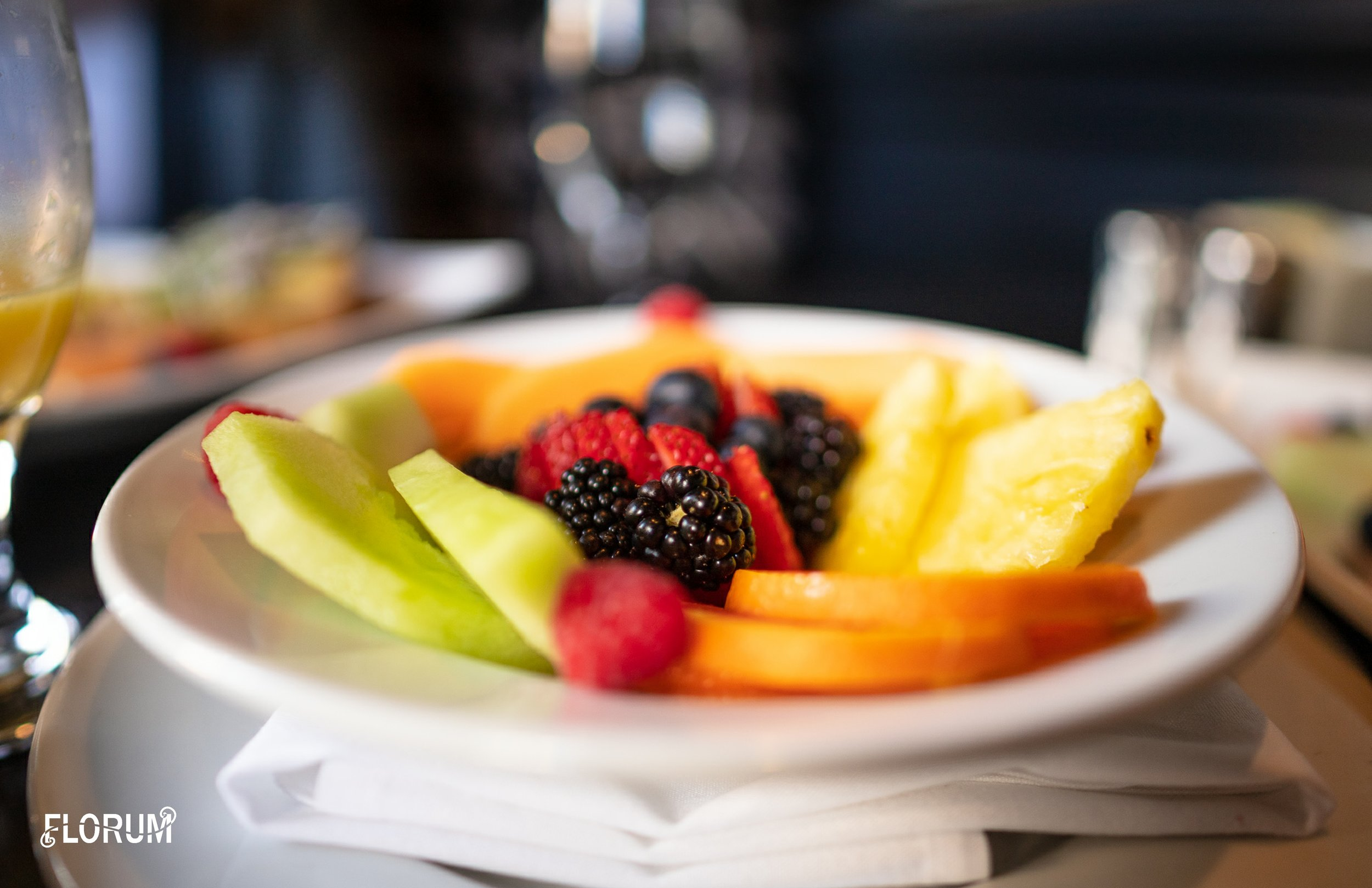 Not realizing fruit was already included on our plates, we ordered the fruit bowl to share. The fruit was as fresh as it was delicious.