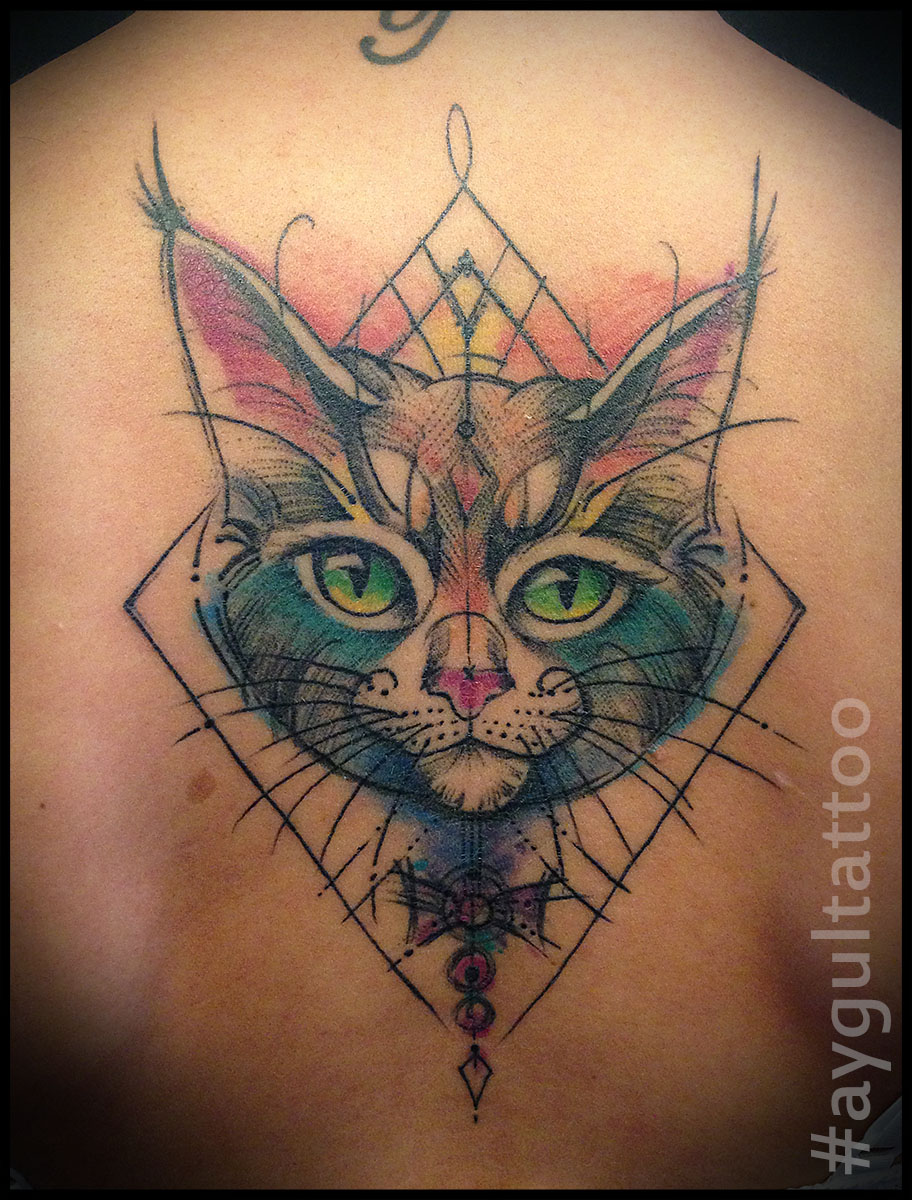 #cat #geometry #color #aygultattoo