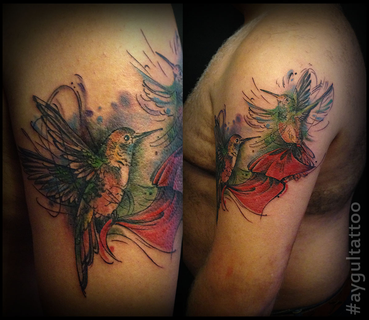 #hummingbirds #color #aygultattoo