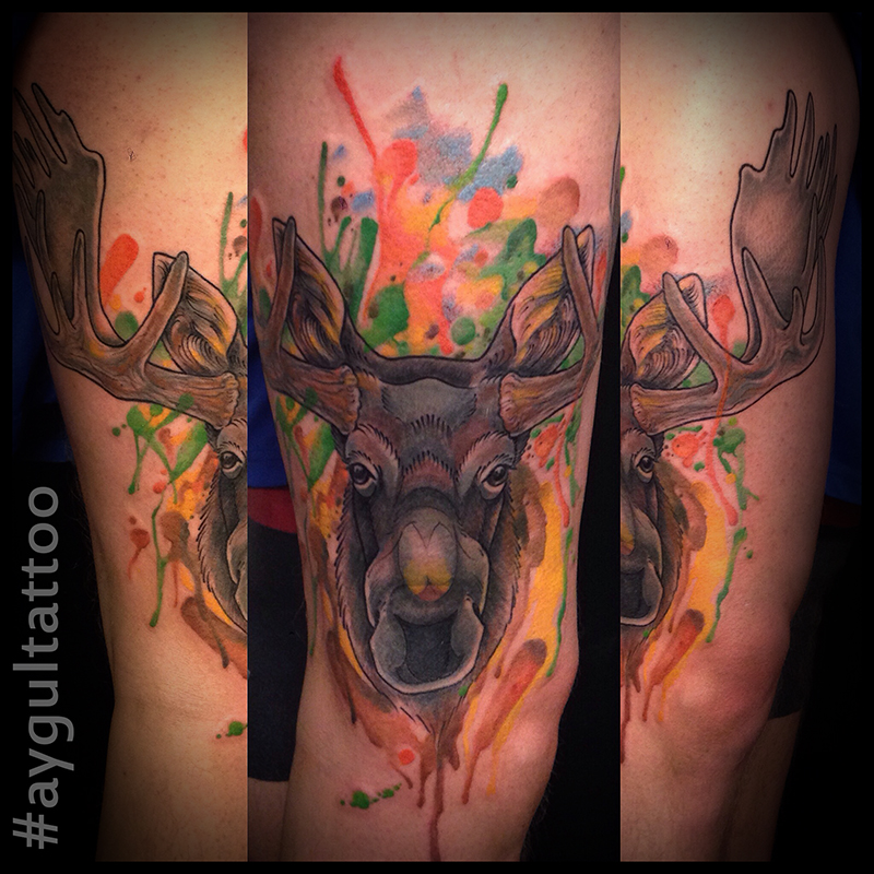 #moose #watercolor #aygultattoo
