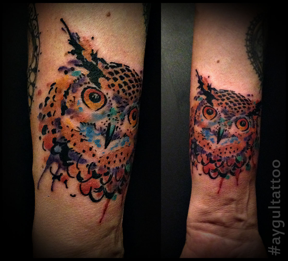 #owl #color #aygultattoo