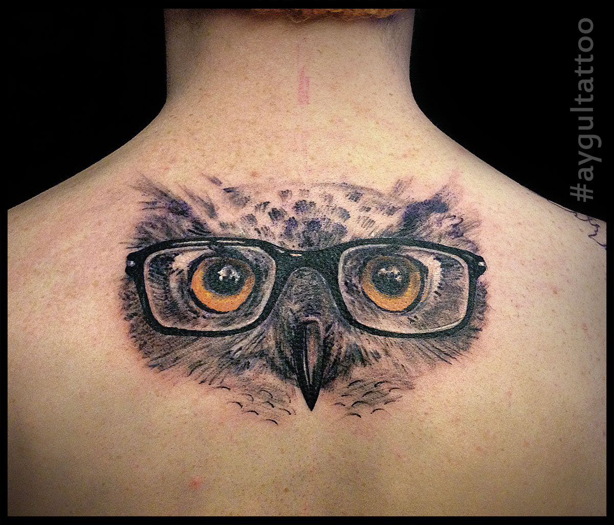 #owl #glasses #aygultattoo