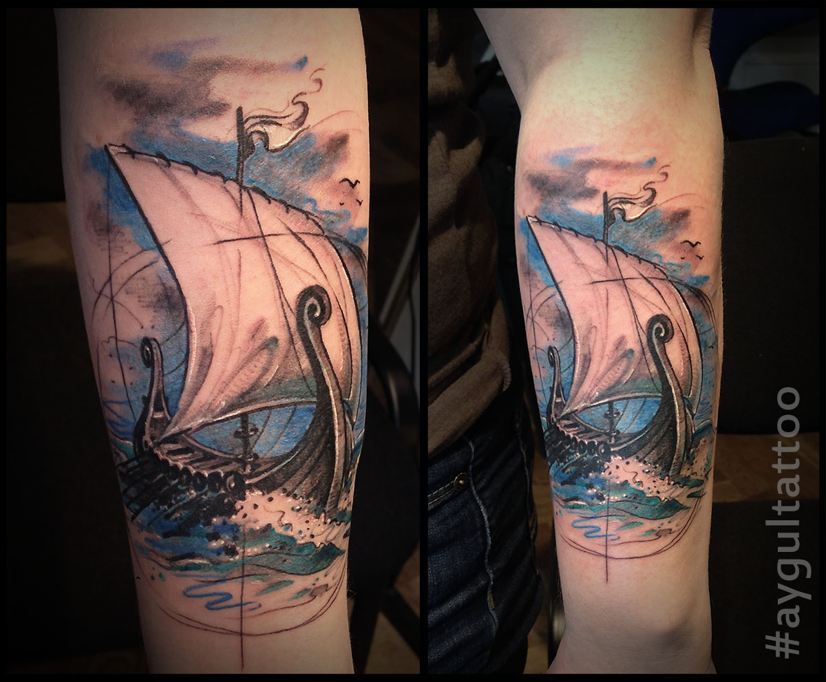 #viking #ship #color #aygultattoo