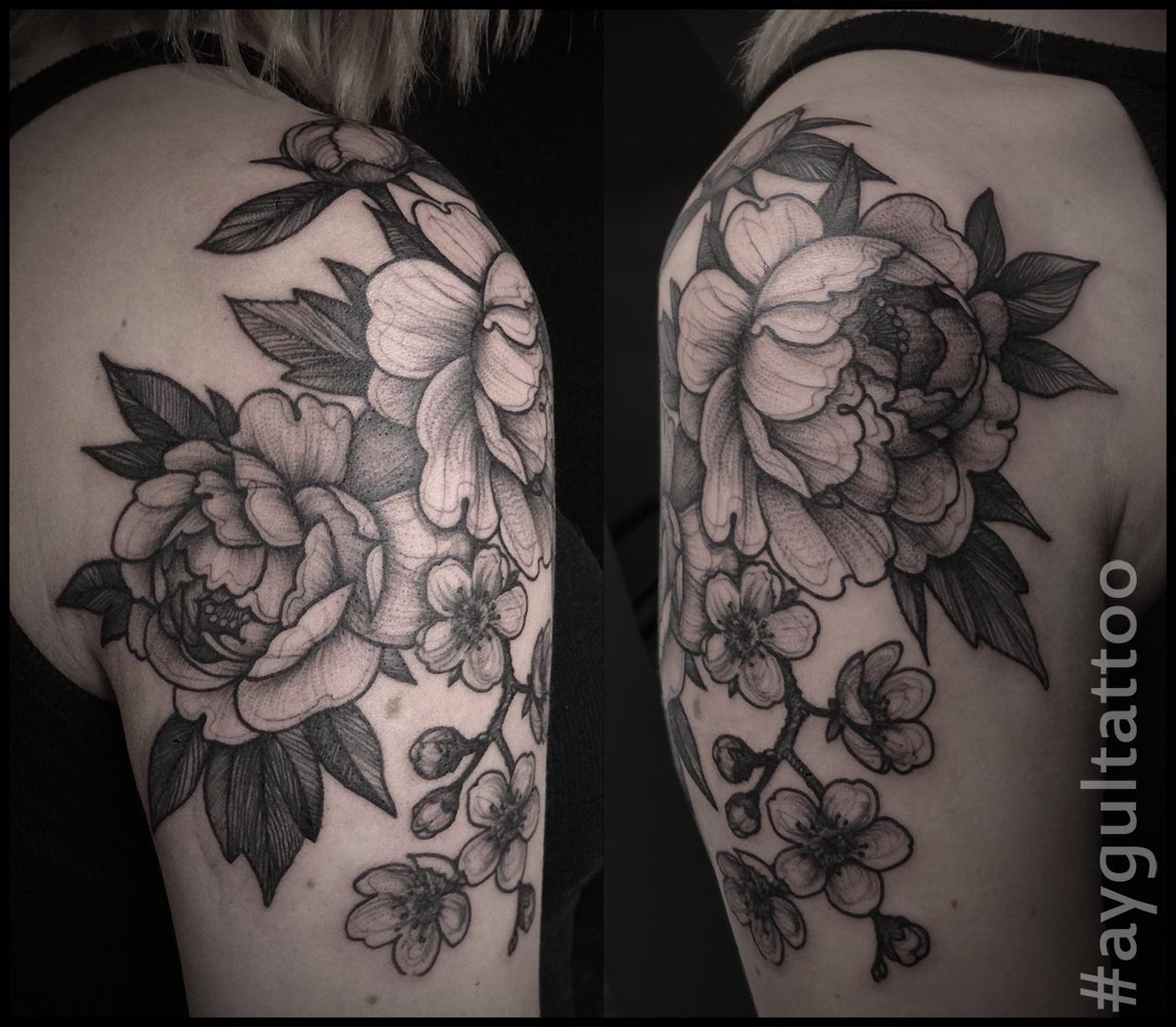 #peonies #blossoms #flowers #sketchy #aygultattoo