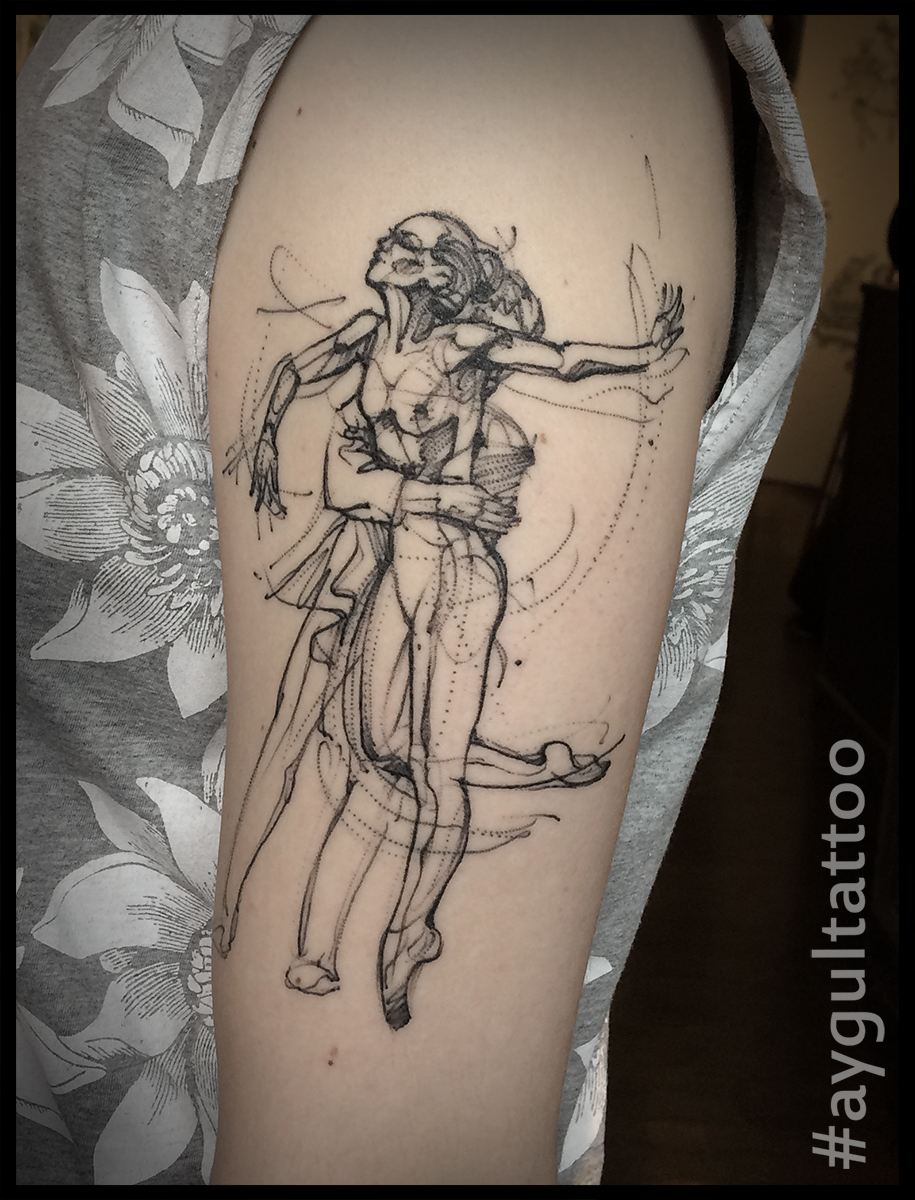 #ballet #sketchy #arm #tattoo #aygultattoo