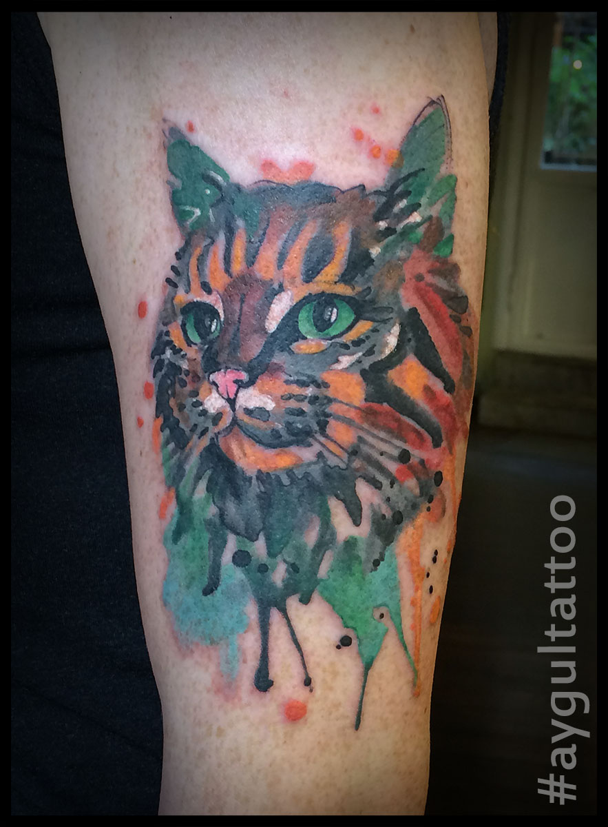 #cat #watercolor #aygultattoo