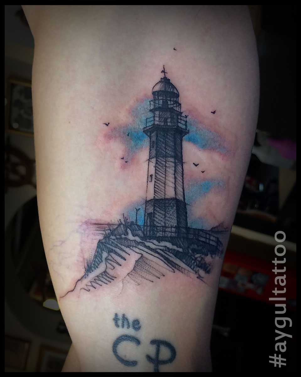 #lighthouse #sketchy #aygultattoo