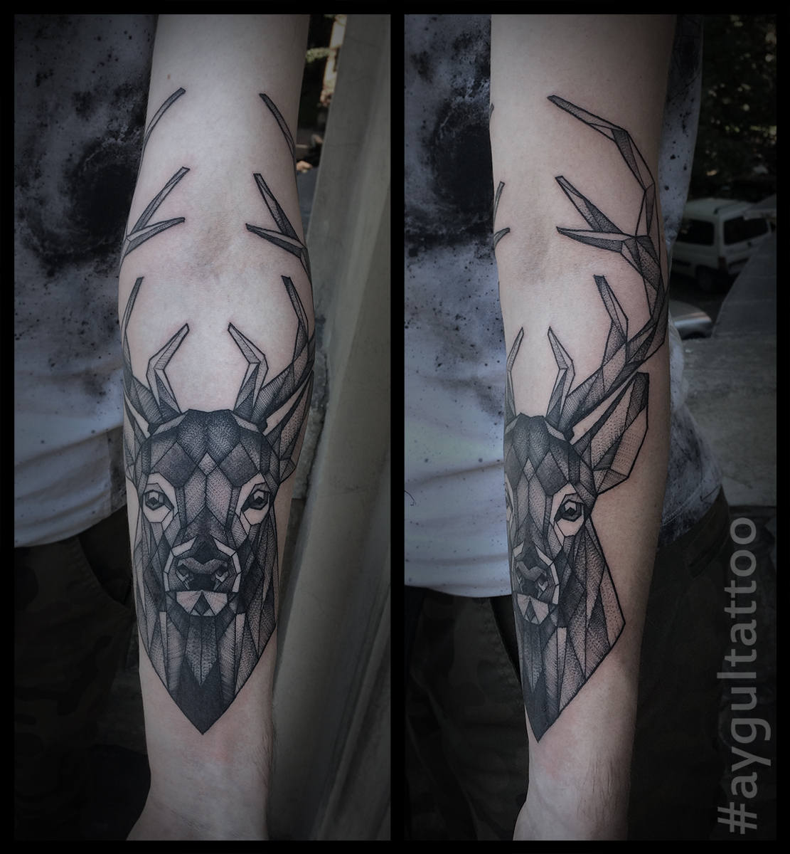 #deer #sketchy #geomentry #aygultattoo