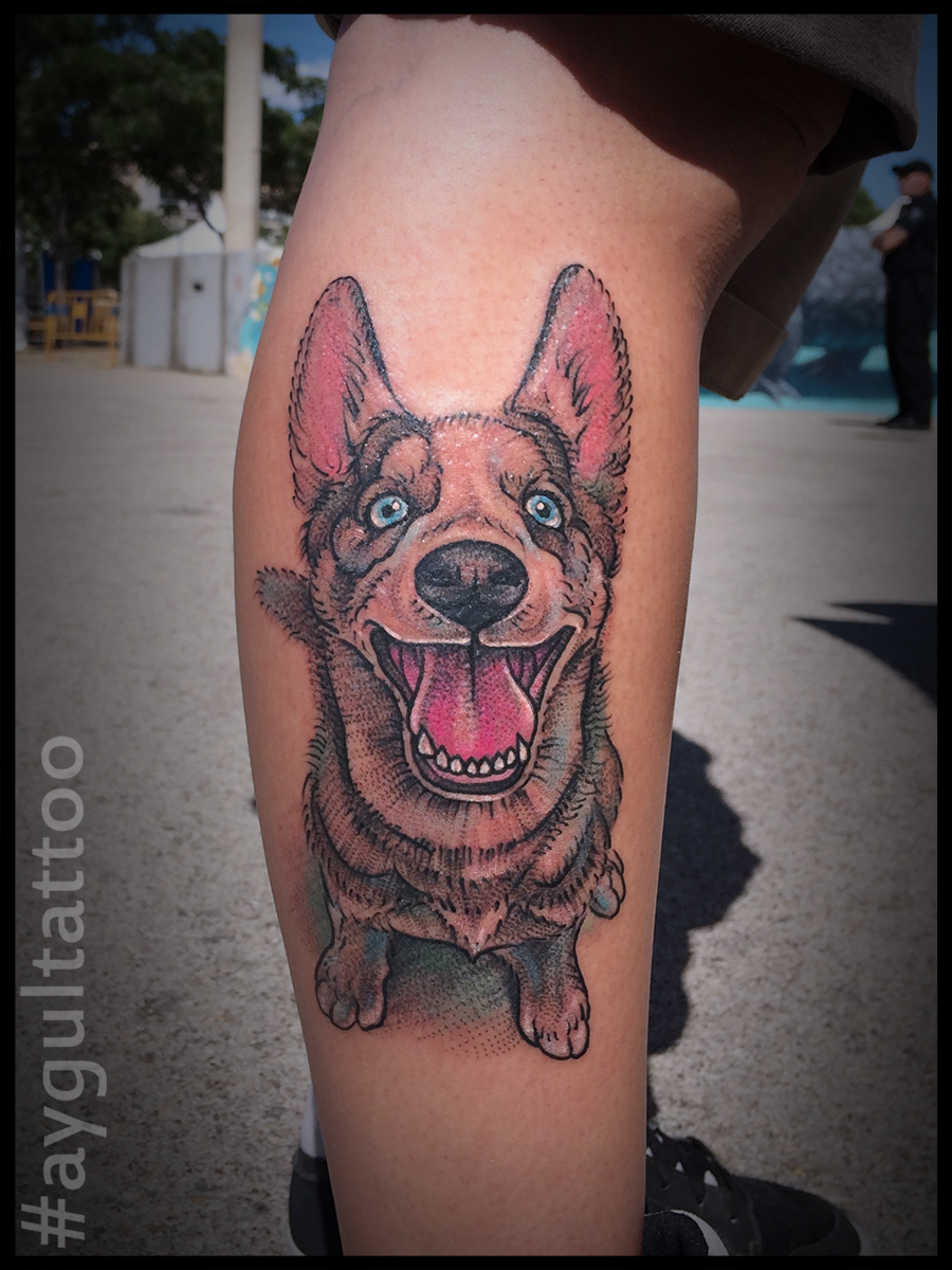 #happy #dog #aygultattoo