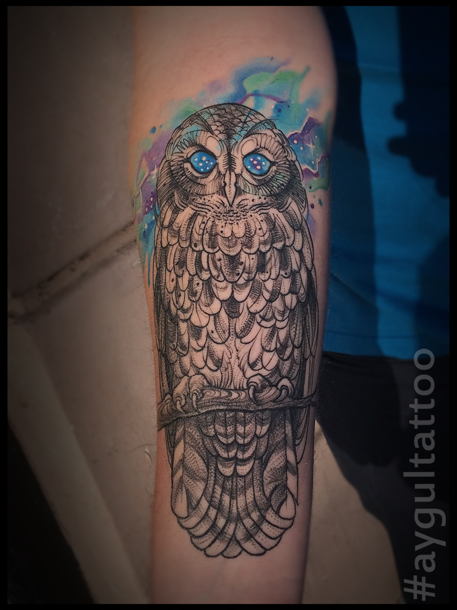 #owl #watercolor #aygultattoo