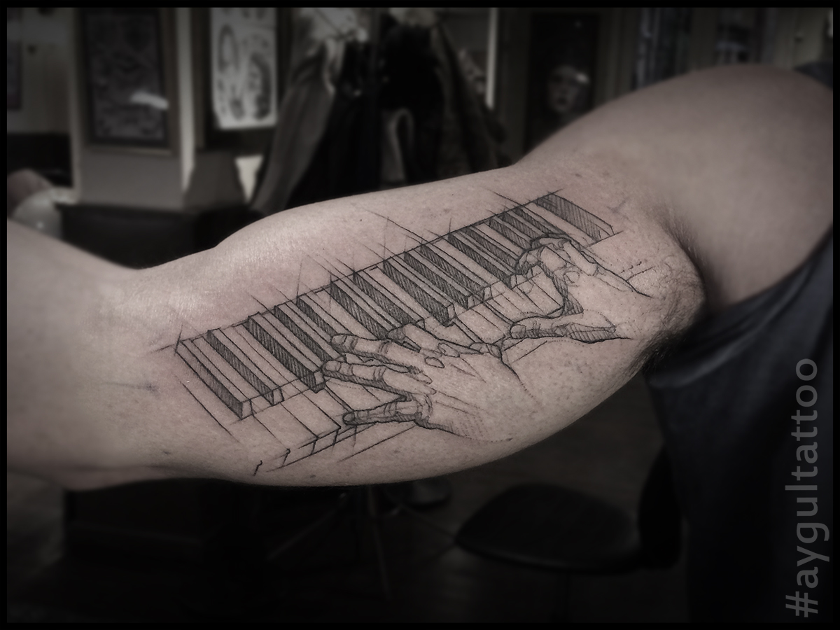 #piano #hands #aygultattoo